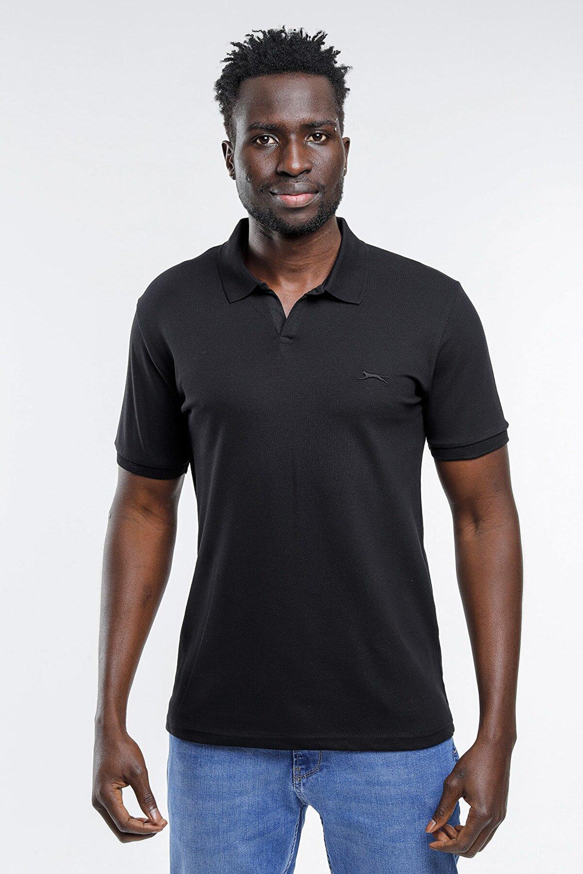 Slazenger Basket Erkek T-shirt Siyah St11te101