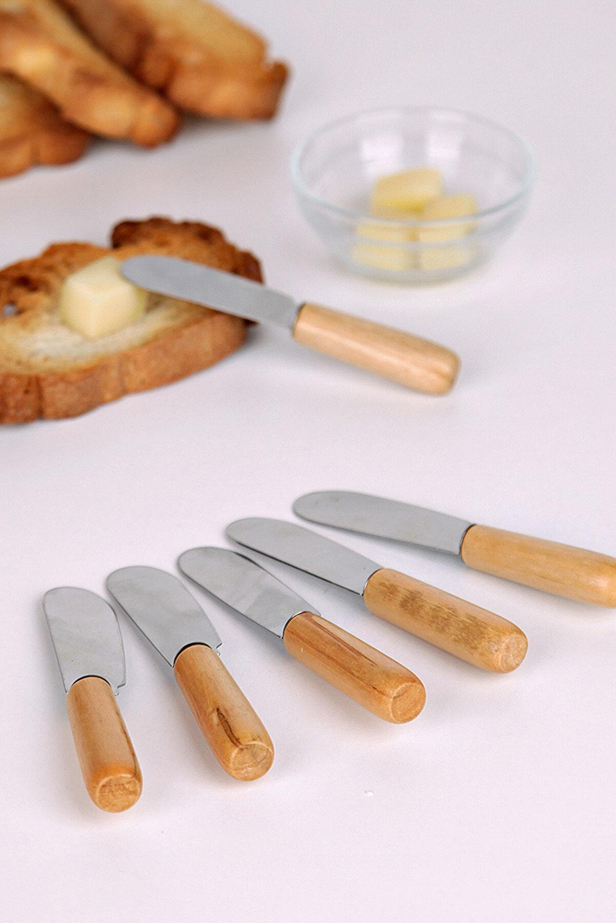 Manor 6'lı Bambu Saplı Kahvaltı Bıçağı