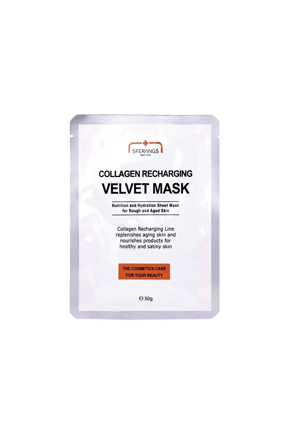 Sferangs Kollajen Sağlayıcı Kırışıklık Gidermeye Yardımcı Yüz Maskesi 30 g 8809080827383