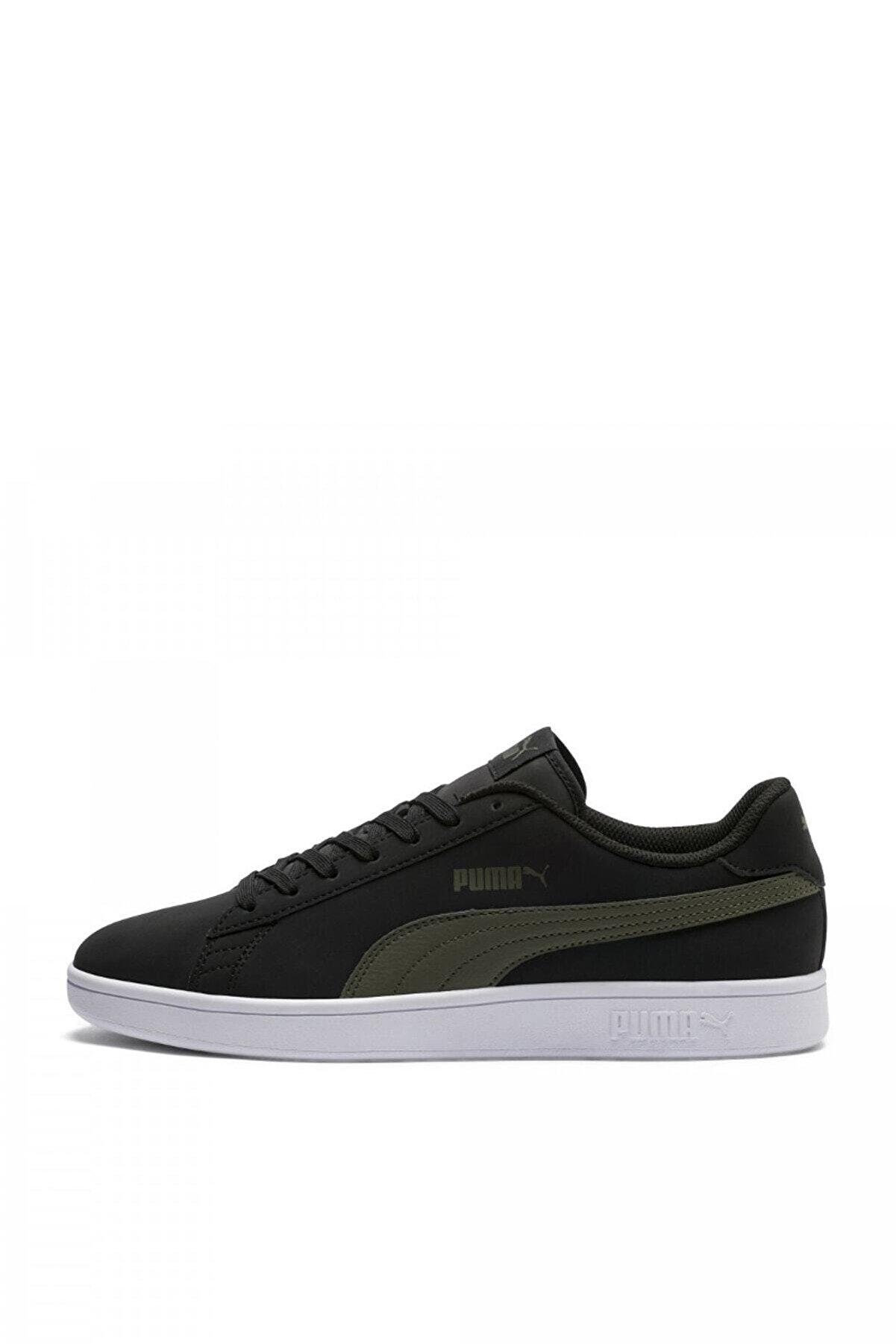 Puma Puma Smash V2 Buck Siyah Haki Beyaz Erkek Sneaker Ayakkabı 100352142