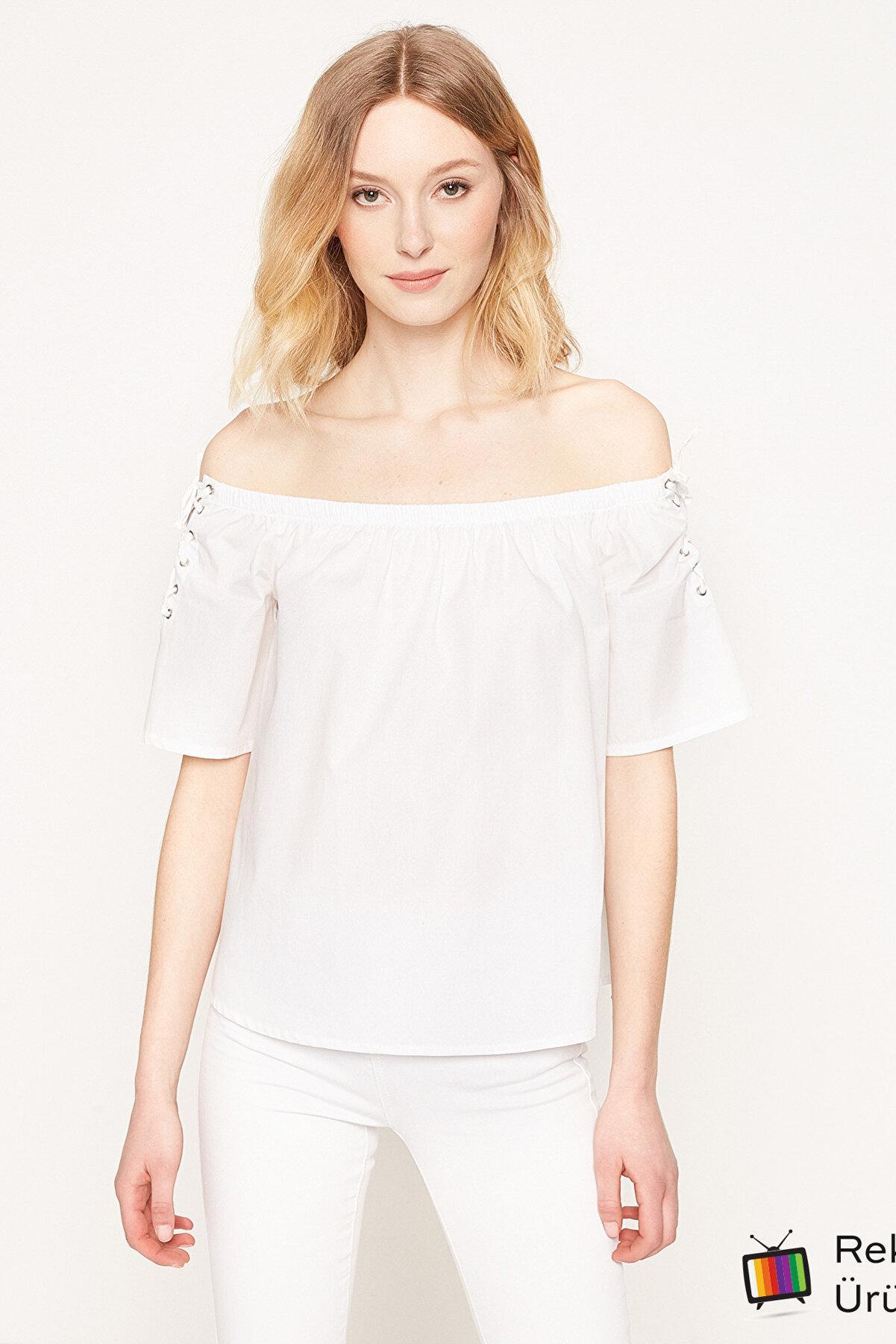 Koton Kadın Beyaz Bluz 7YAK63769OW