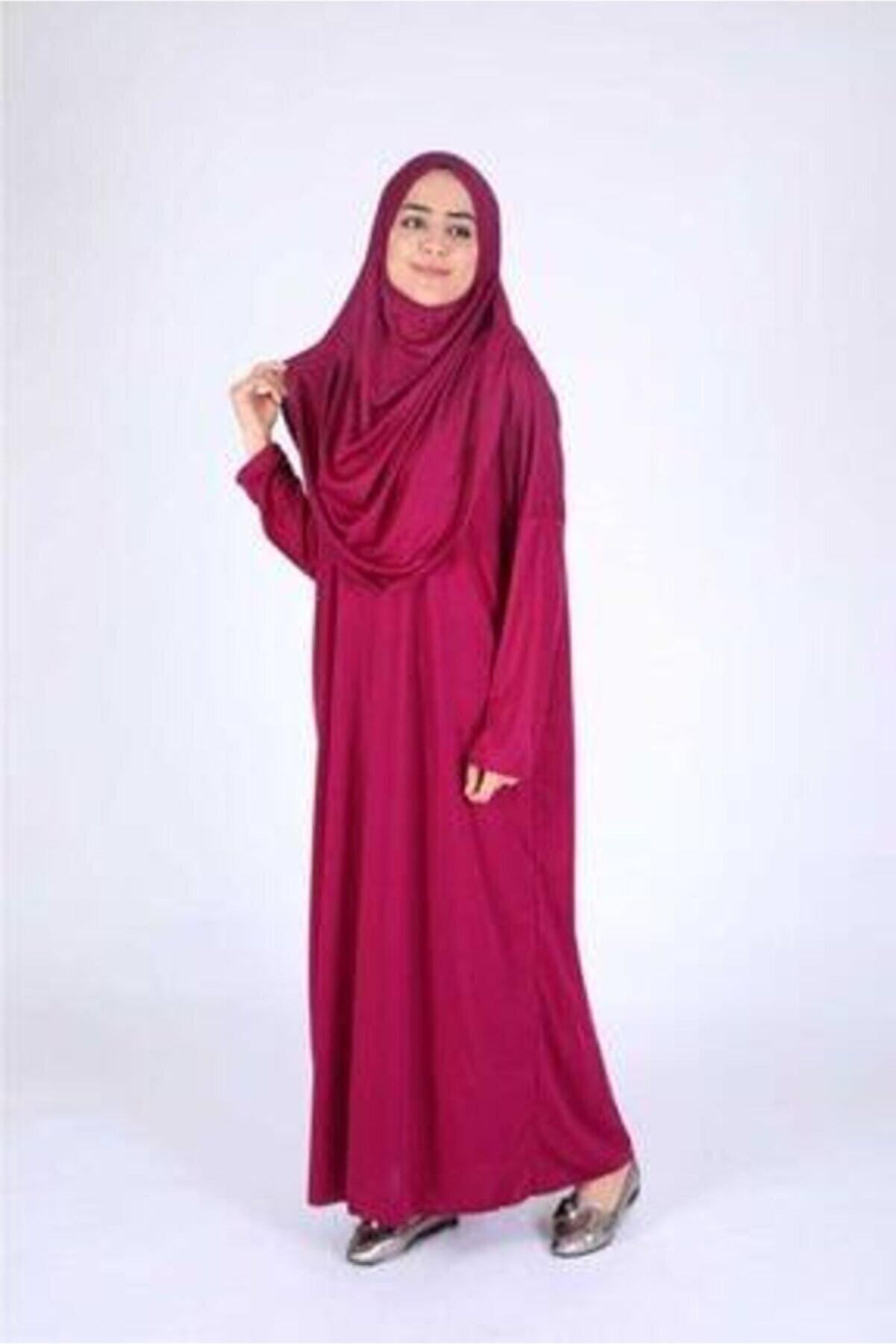 Gökyüzü Kadın Tesettür Çantalı Namaz Elbisesi