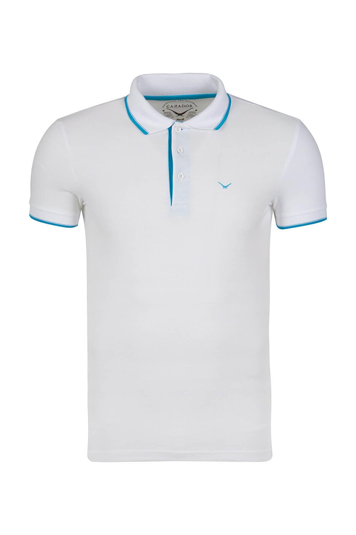 Cazador Erkek Beyaz T-Shirt - Cdr4614-18YC1EK04614