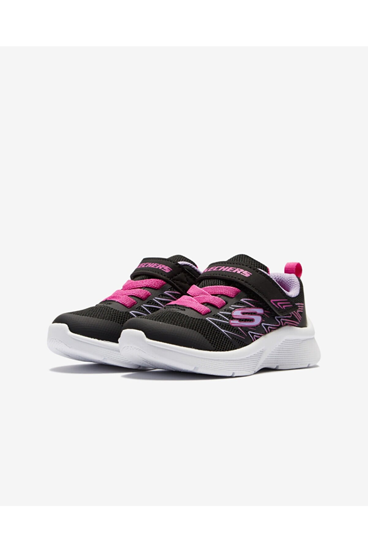 Skechers MICROSPEC - BOLD DELIGHT Küçük Kız Çocuk Siyah Spor Ayakkabı