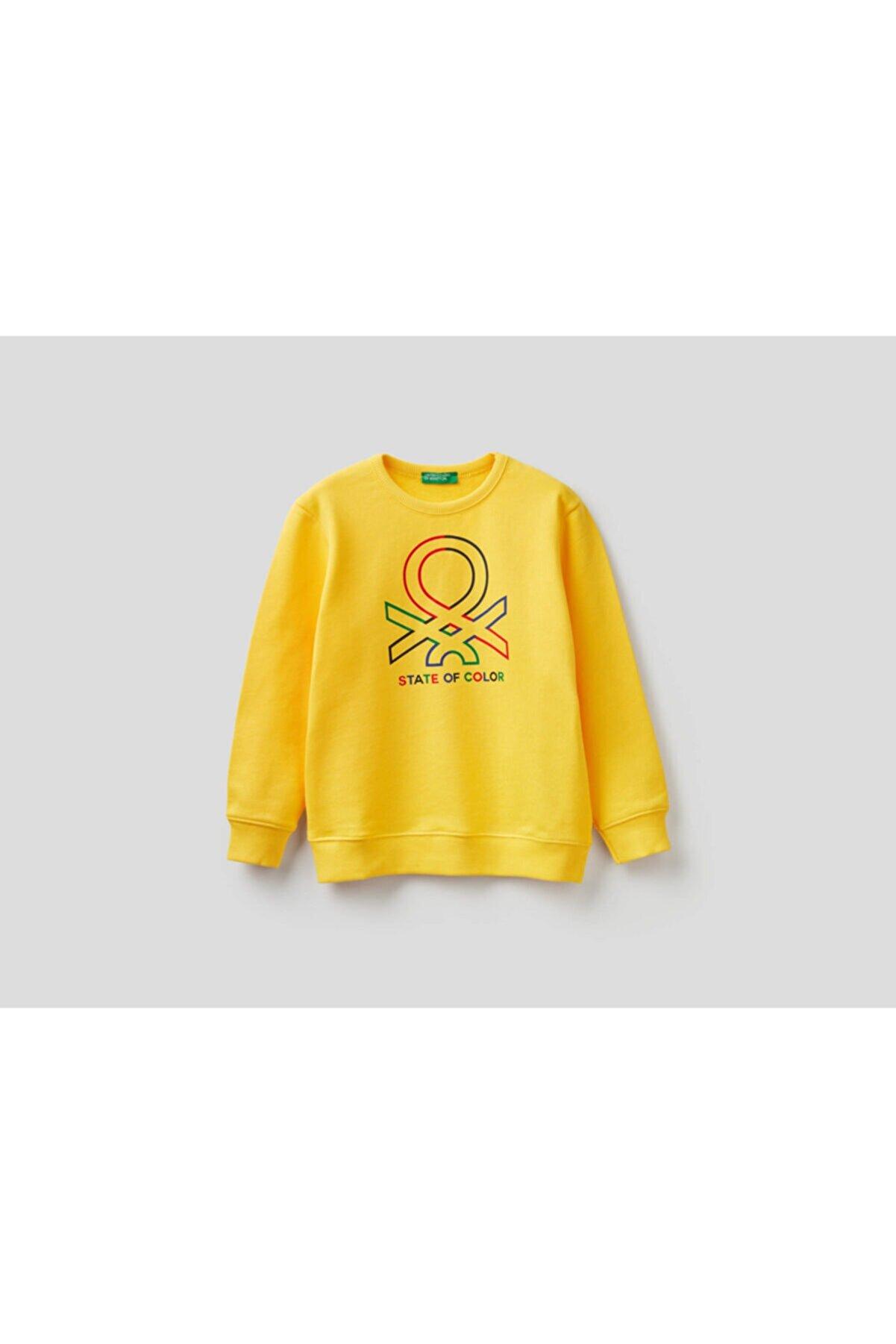 Benetton 012 Benetton Yazılı Sweatshirt
