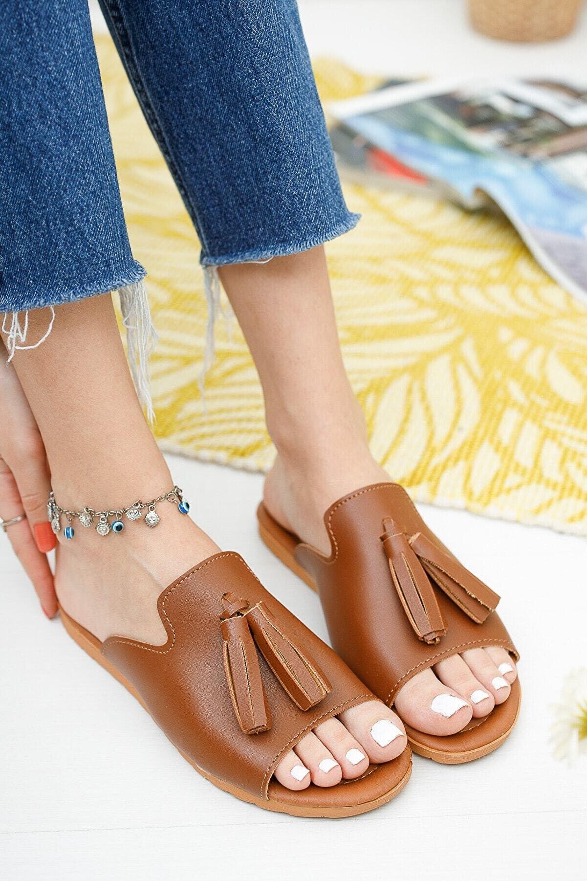 Ekol Ayakkabi Kadın Püsküllü Terlik