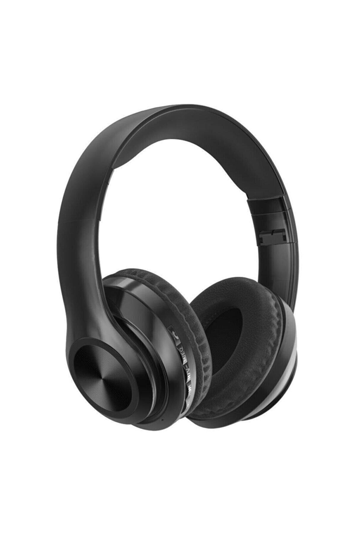 Polygold P68 Bluetooth Kulaklık Kablosuz Stereo Kulaklık Macaron Kulaklık Renkli-siyah