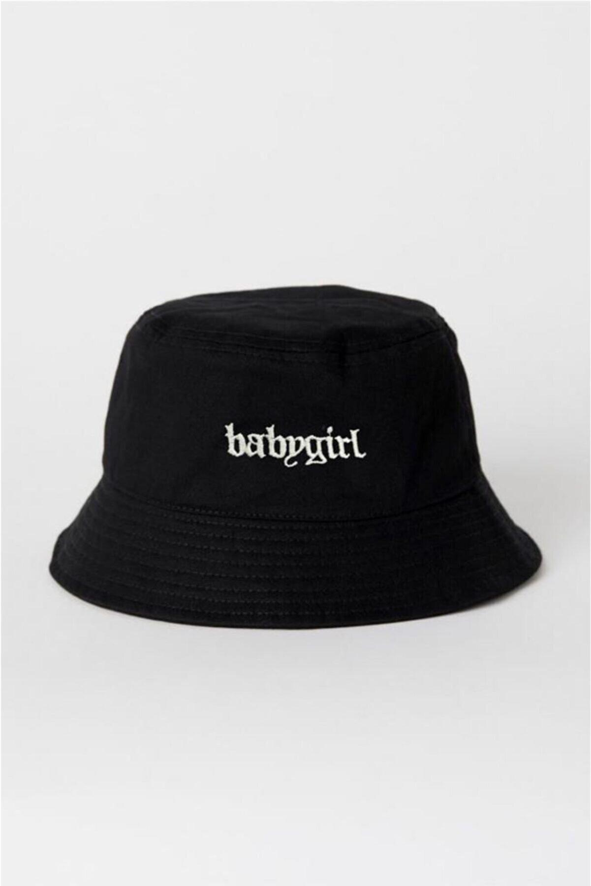 Ef Butik Siyah Babygirl Balıkçı Şapka Bucket Hat