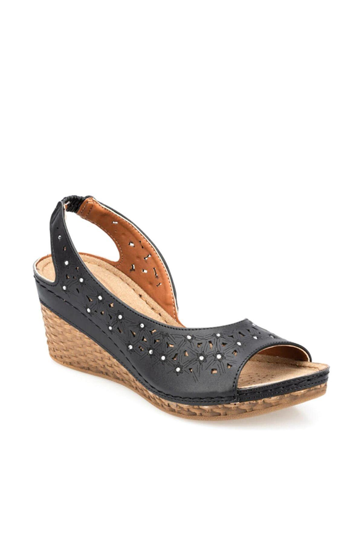 Polaris 91.157342.Z Siyah Kadın Sandalet 100374712