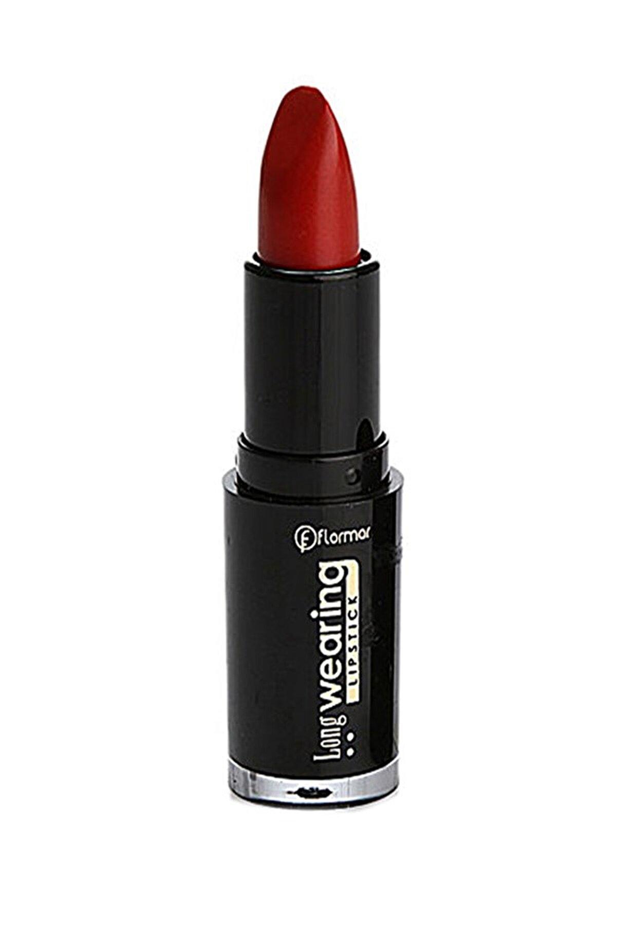 Flormar Ruj - Long Wearing Lipstick Red Metallic L08 8690604107780