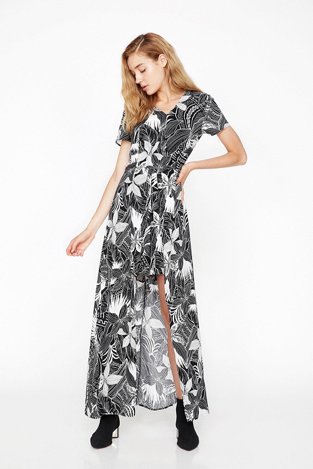 Koton Kadın Siyah Elbise 8YAK02158QW