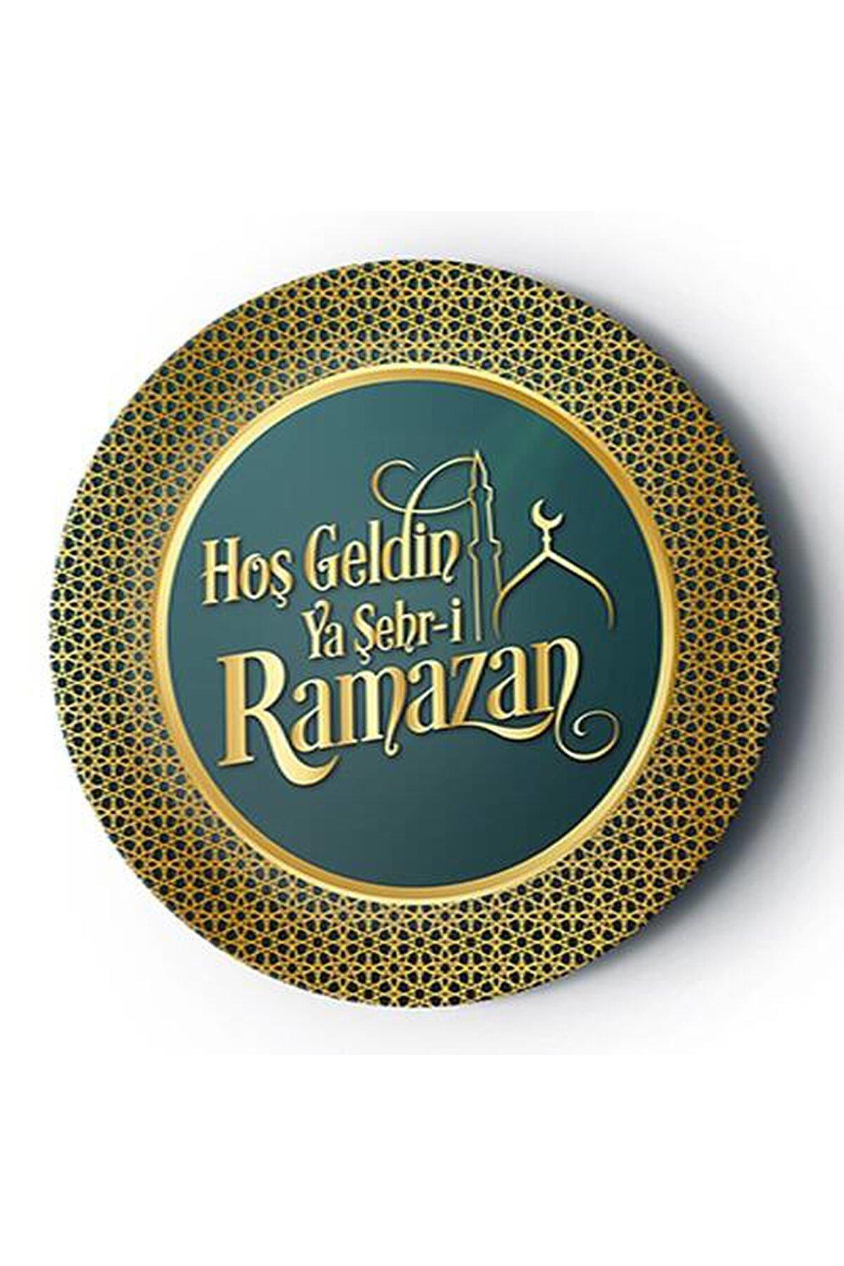 Huzur Party Store 8 Li Karton Tabak 22 Cm Dayanıklı Hoşgeldin Ya Şehri Ramazan Bayramı Temalı Dini İslami Süsü