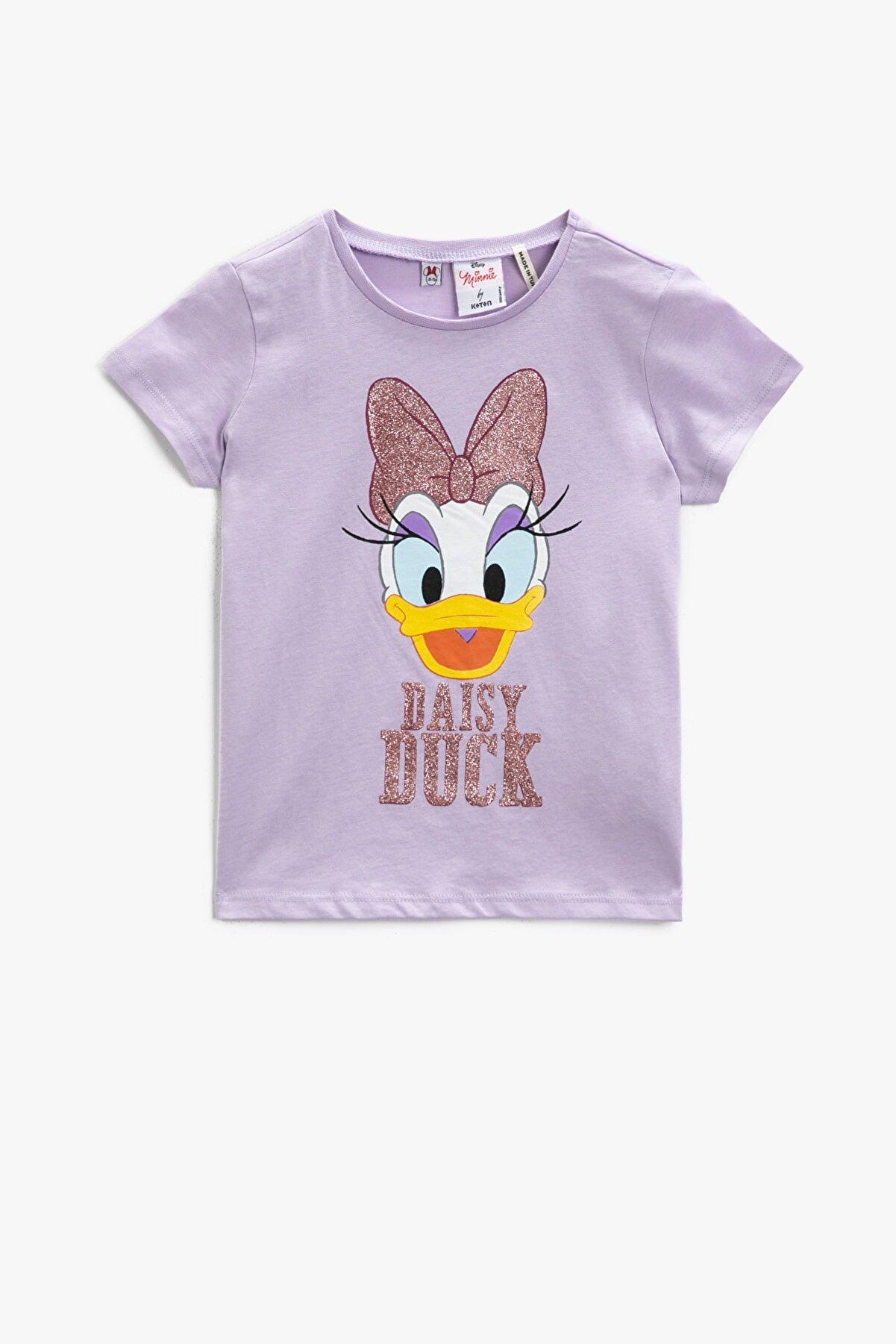 Koton Kız Çocuk Lila T-Shirt 1YKG17880AK