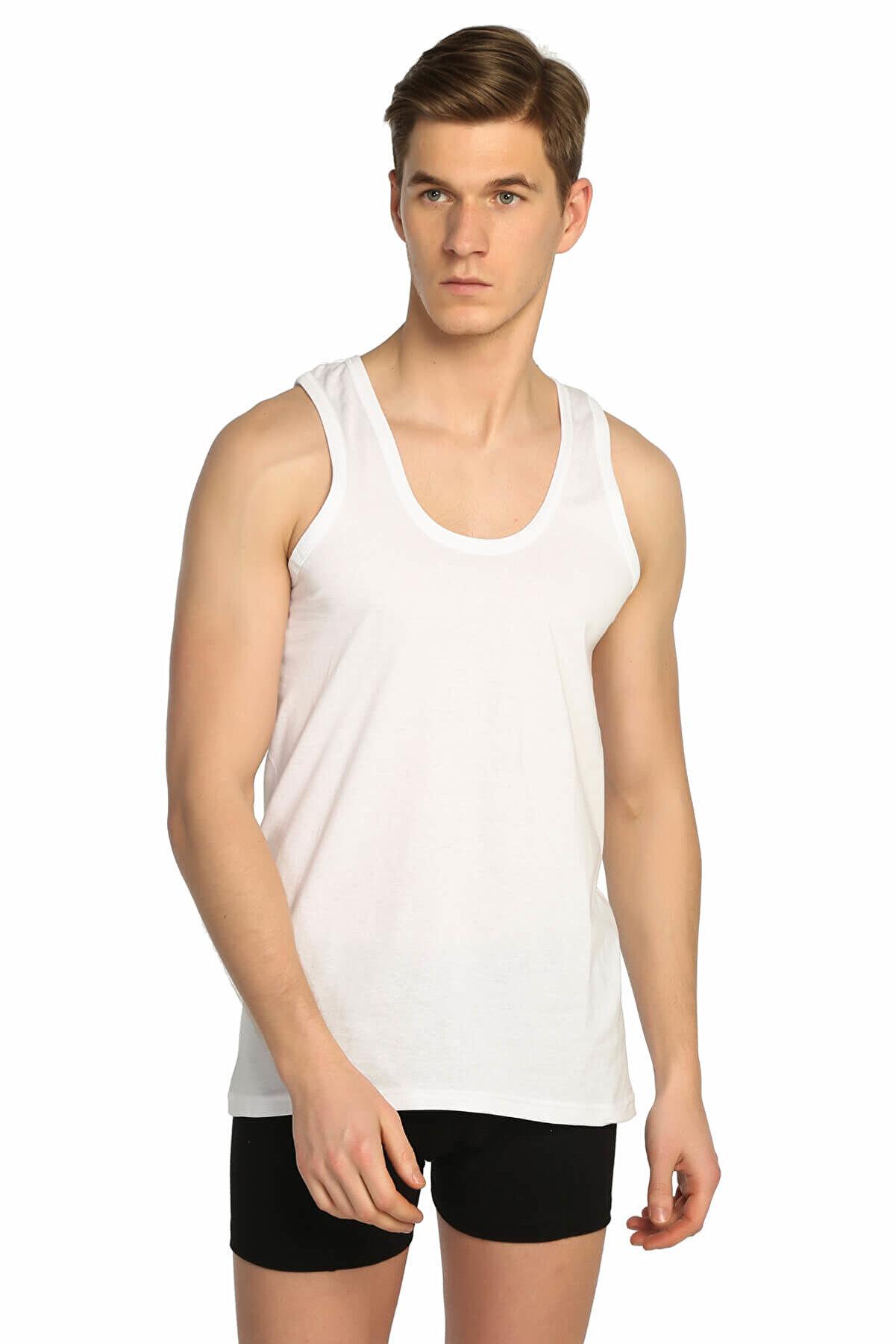 Tutku Erkek Beyaz  Klasik Atlet ELF568T0101CCM