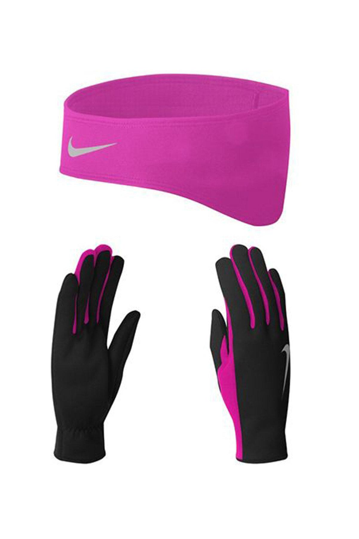 Nike Wmns Termal Koşu Eldiveni Saç Bandı Seti - NRC25-067