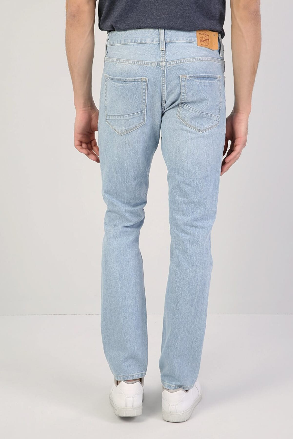 Colin's ERKEK 044 Karl Düşük Bel Düz Paça Straight Fit Mavi Erkek Jean Pantolon CL1036445