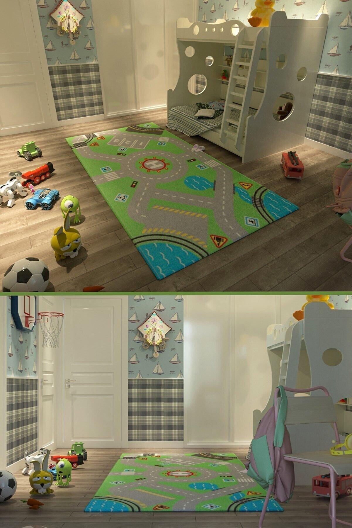 Vivyan Dijital Baskı Çocuk Oyun Halısı 100 Cmx160 Cm