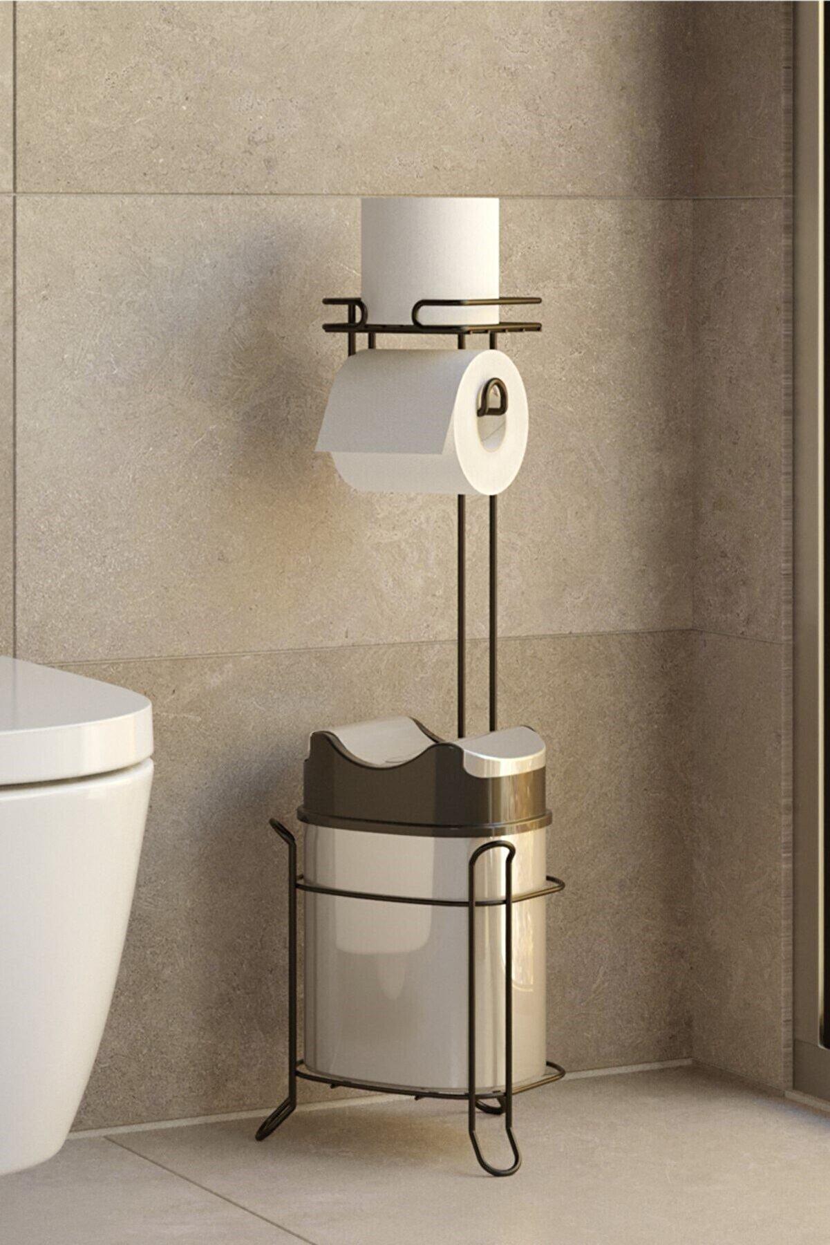 Teknotel Yutan Kapak Çöp Kovası ve Tuvalet Kağıtlık Mg098
