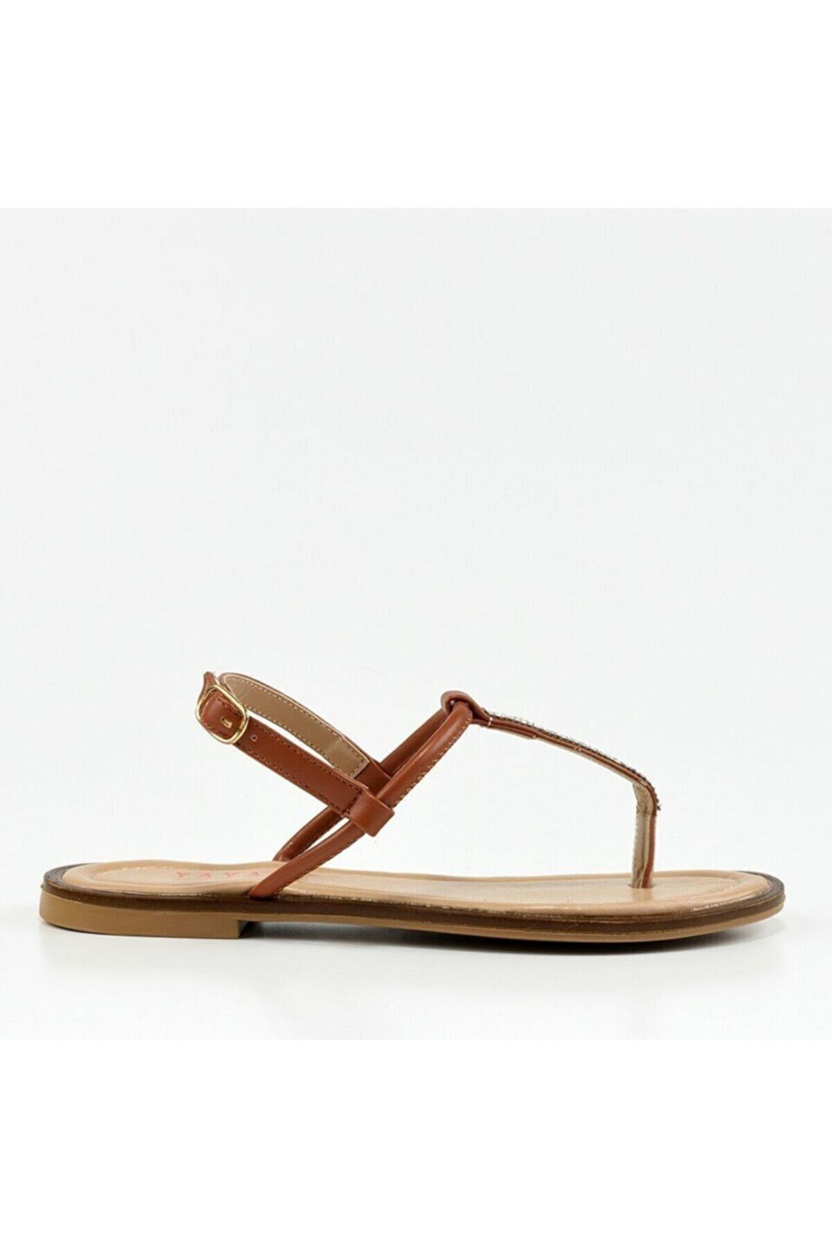 Hotiç Hakiki Deri Kadın Taba Sandalet