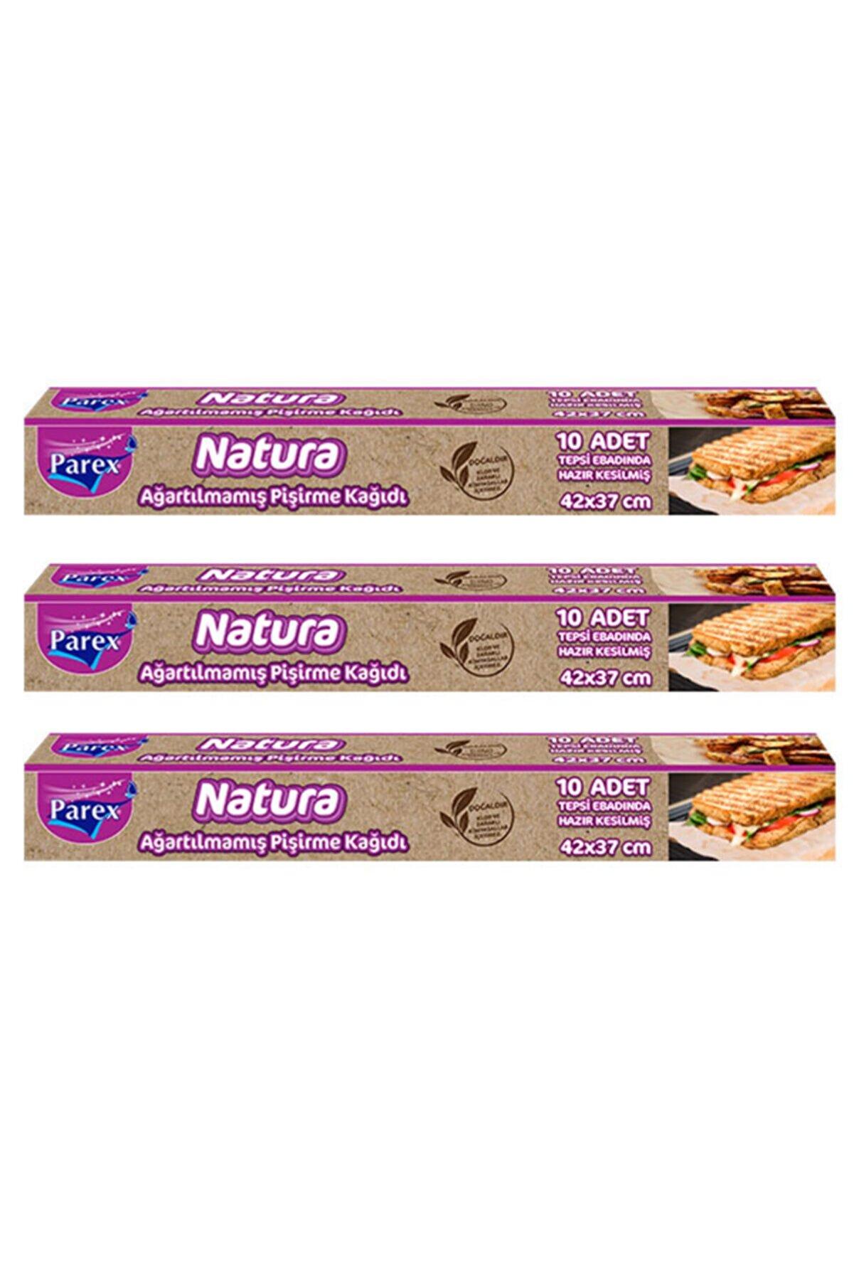 Parex Natura 3 Adet Ağartılmamış Organik Hazır Kesilmiş Pişirme Kağıdı 10'lu