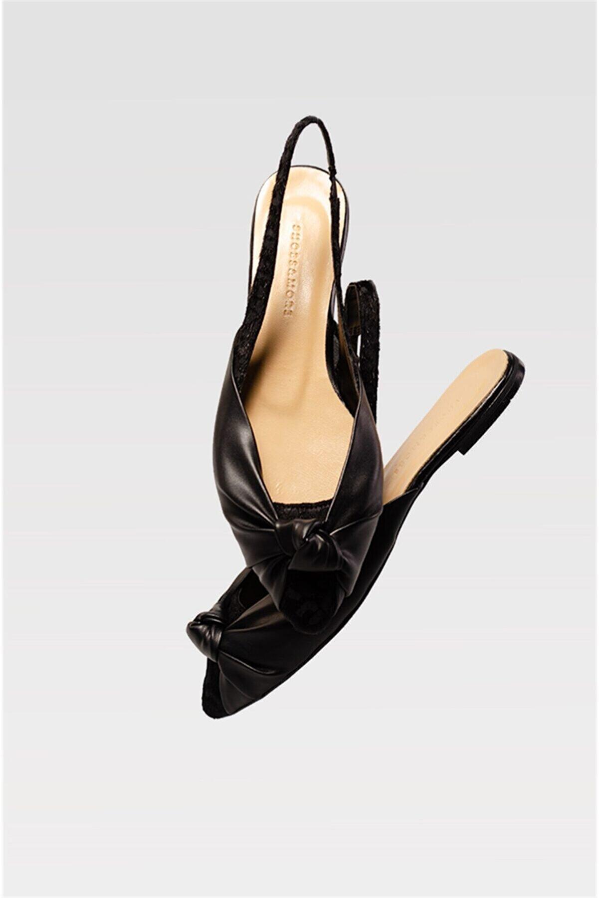 Shoes & More Kadın Siyah Babet