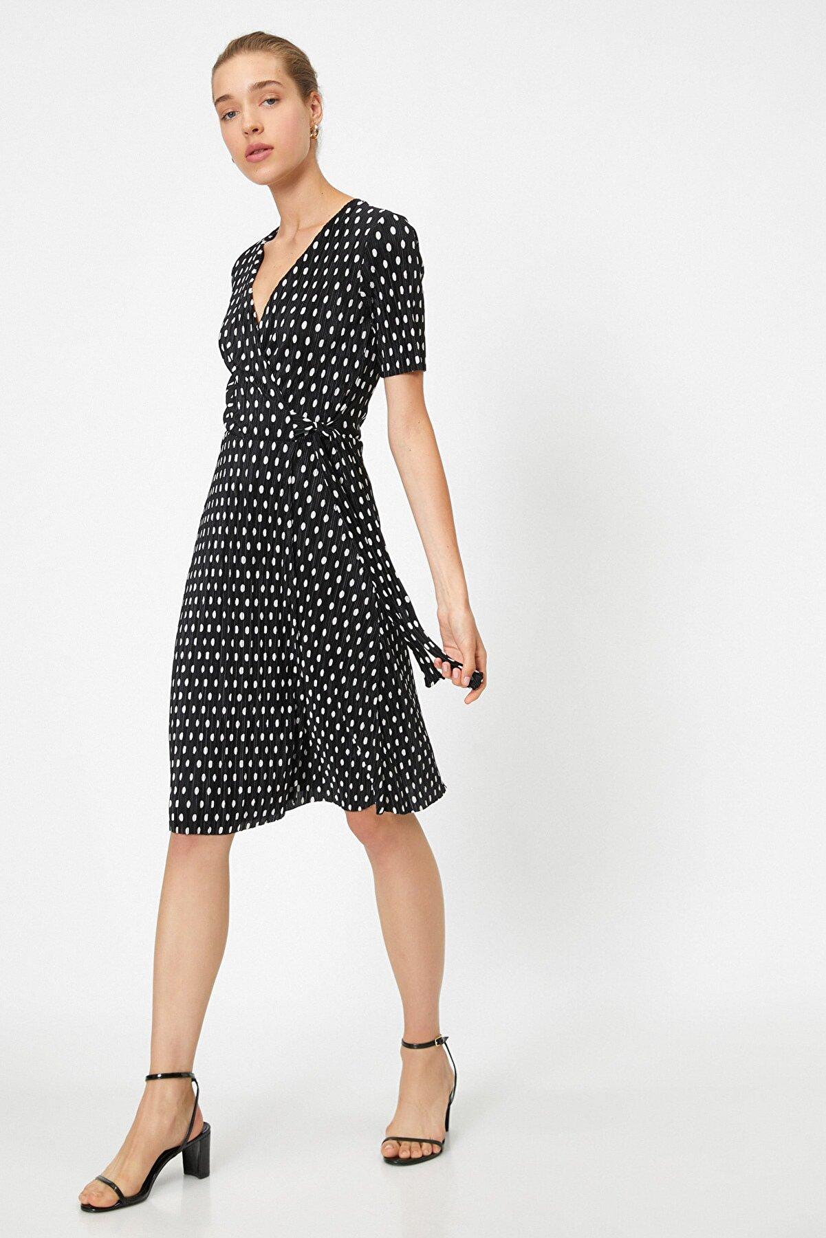 Koton Kadın Beyaz Desıgn Elbise 0YAK83837EK