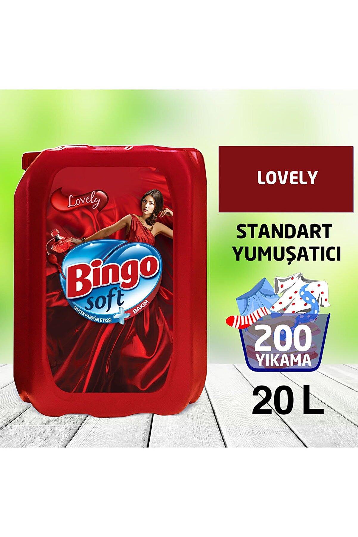 Bingo Soft Standart Çamaşır Yumuşatıcısı Lovely 5 L 4'lü