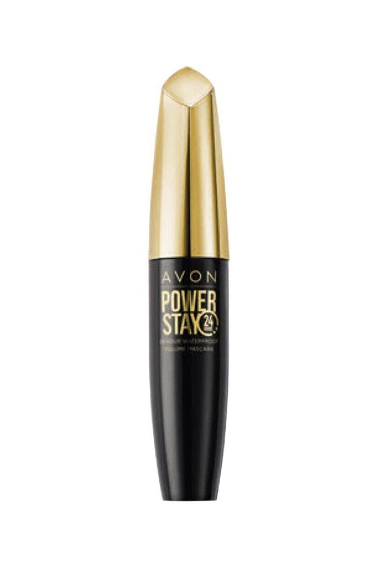 Avon Power Stay  Suya Dayanaklı Hacim Veren Maskara - Blackest Black 10ml