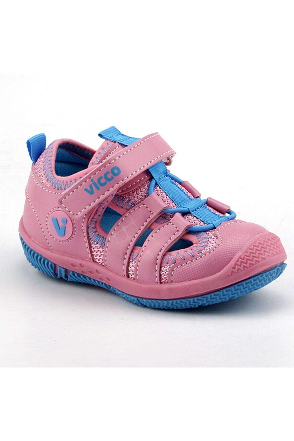 Vicco Kız Çocuk  Sunny Pembe Günlük Ortopedik Spor Sandalet Terlik 332.z.300