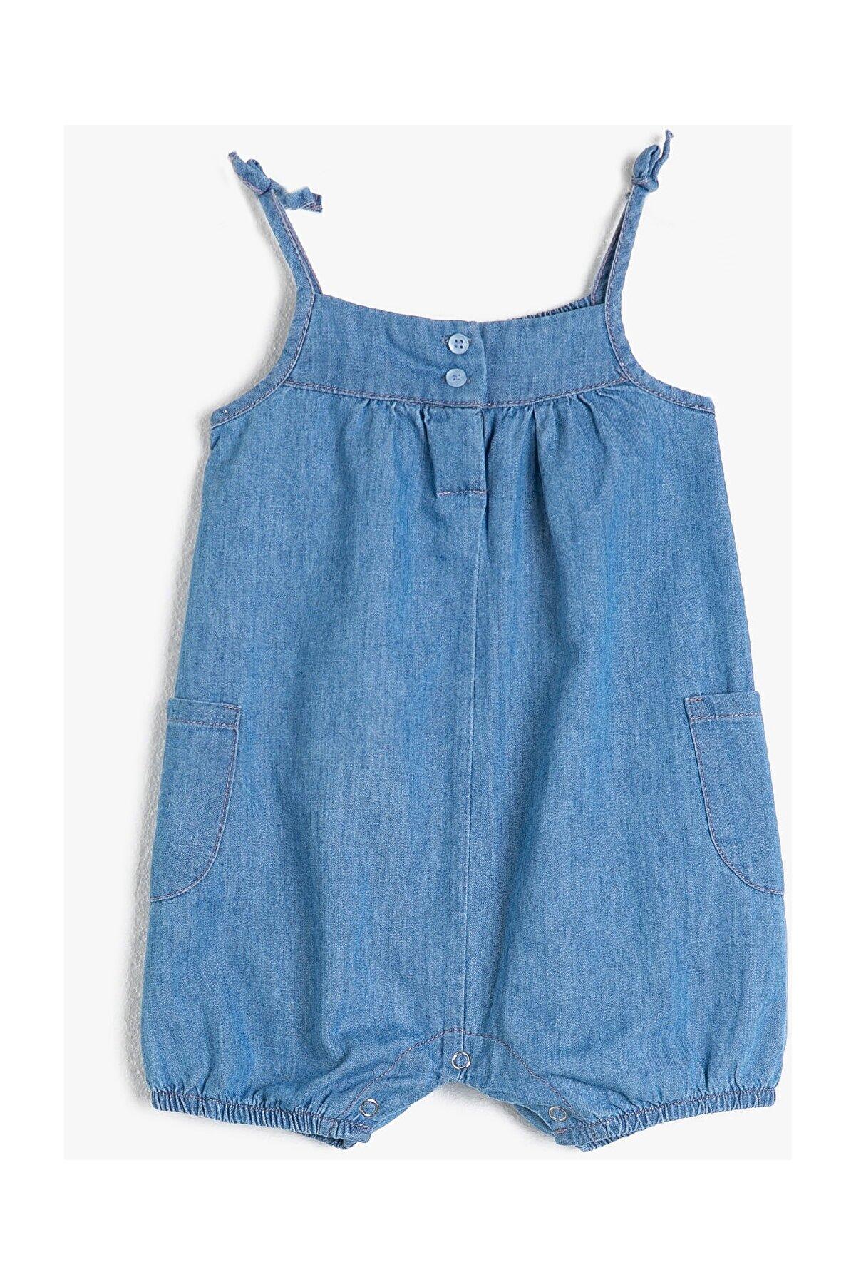 Koton Mavi Kız Bebek Tulum