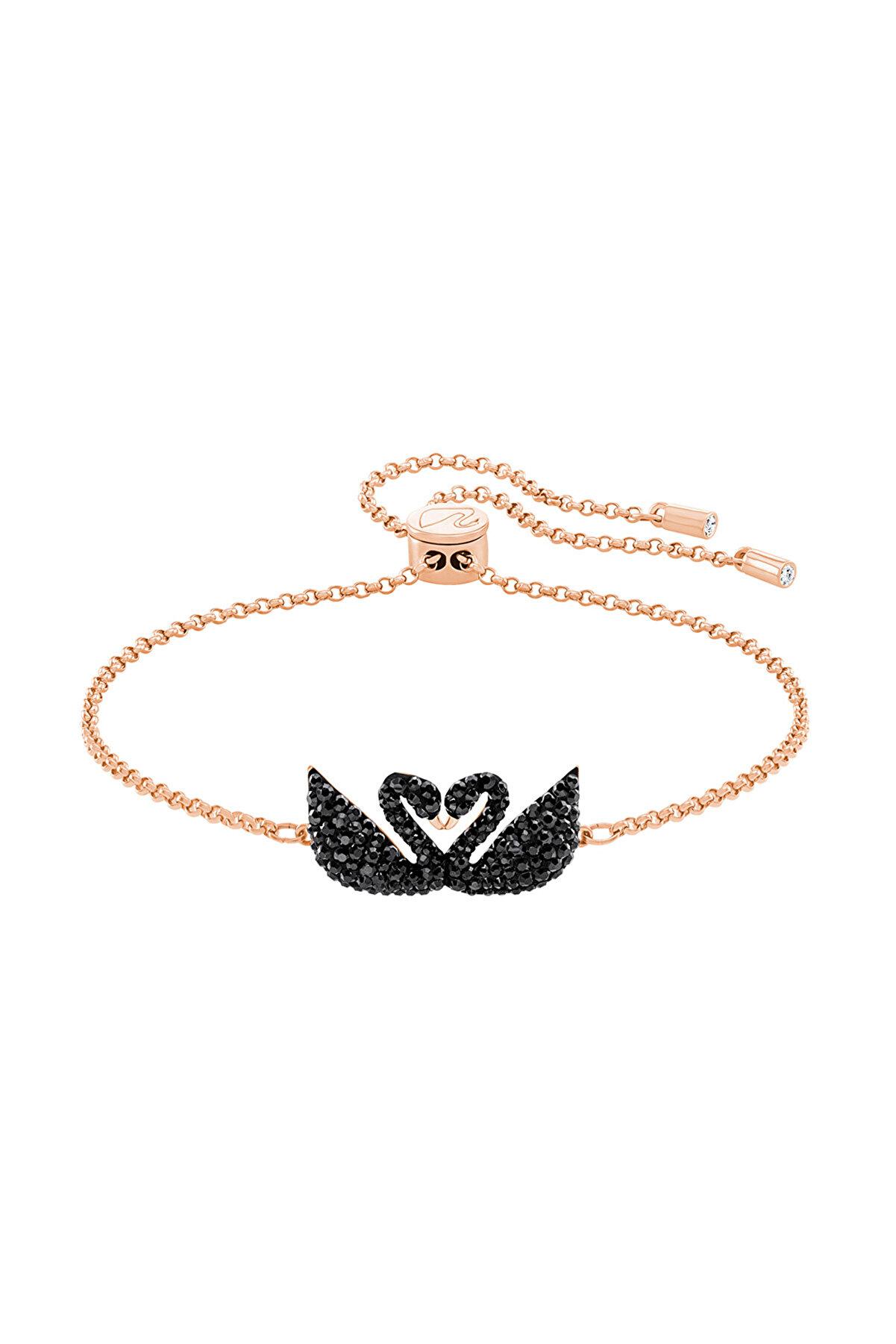 Swarovski Kadın Bilezik İconic Swan:Bracelet Double Jet/Ros M 5344132