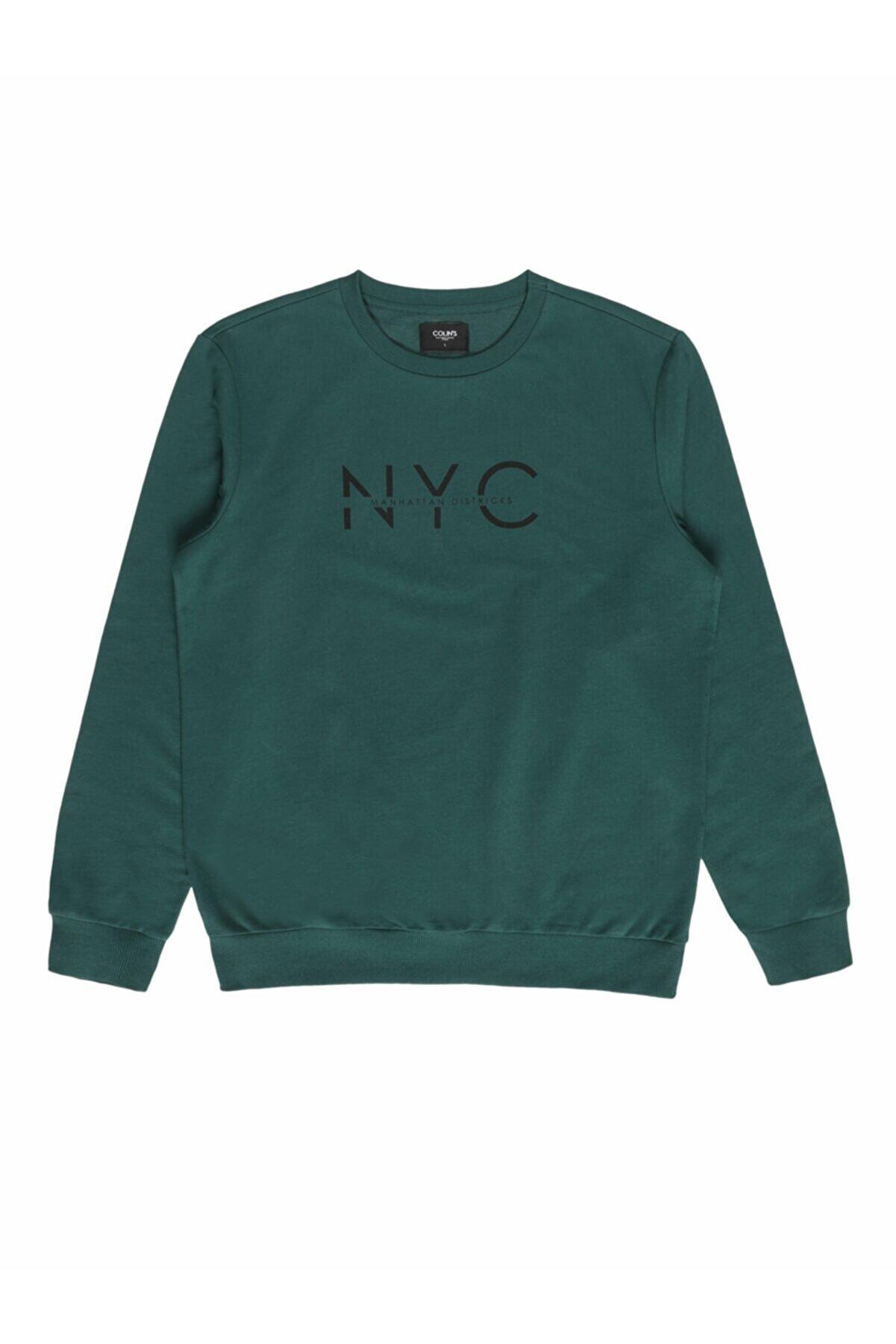 Colin's ERKEK Regular Fit Erkek Yeşil Sweatshirt CL1054823