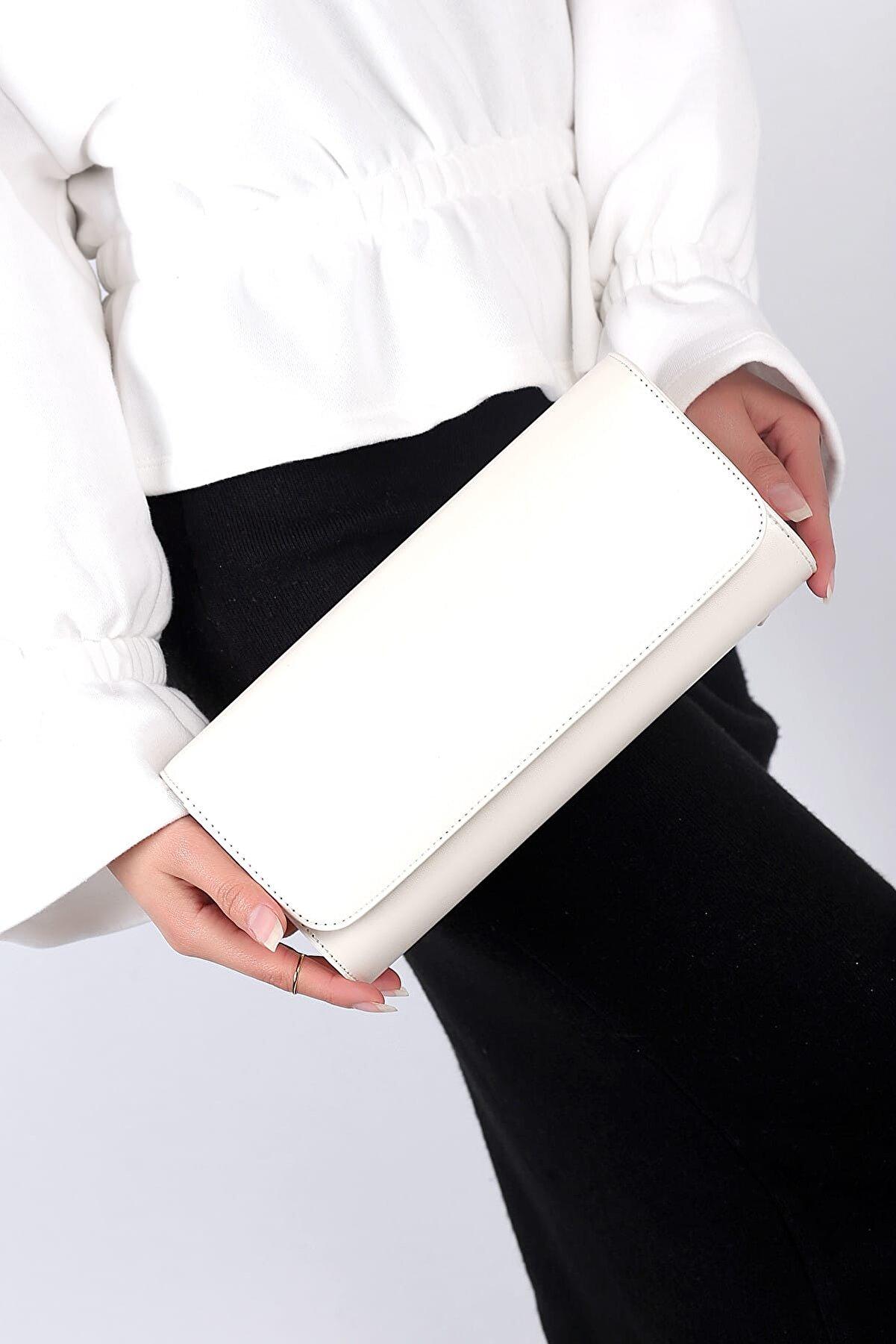 WMİLANO Beyaz Kadın El Çantası C0112-18