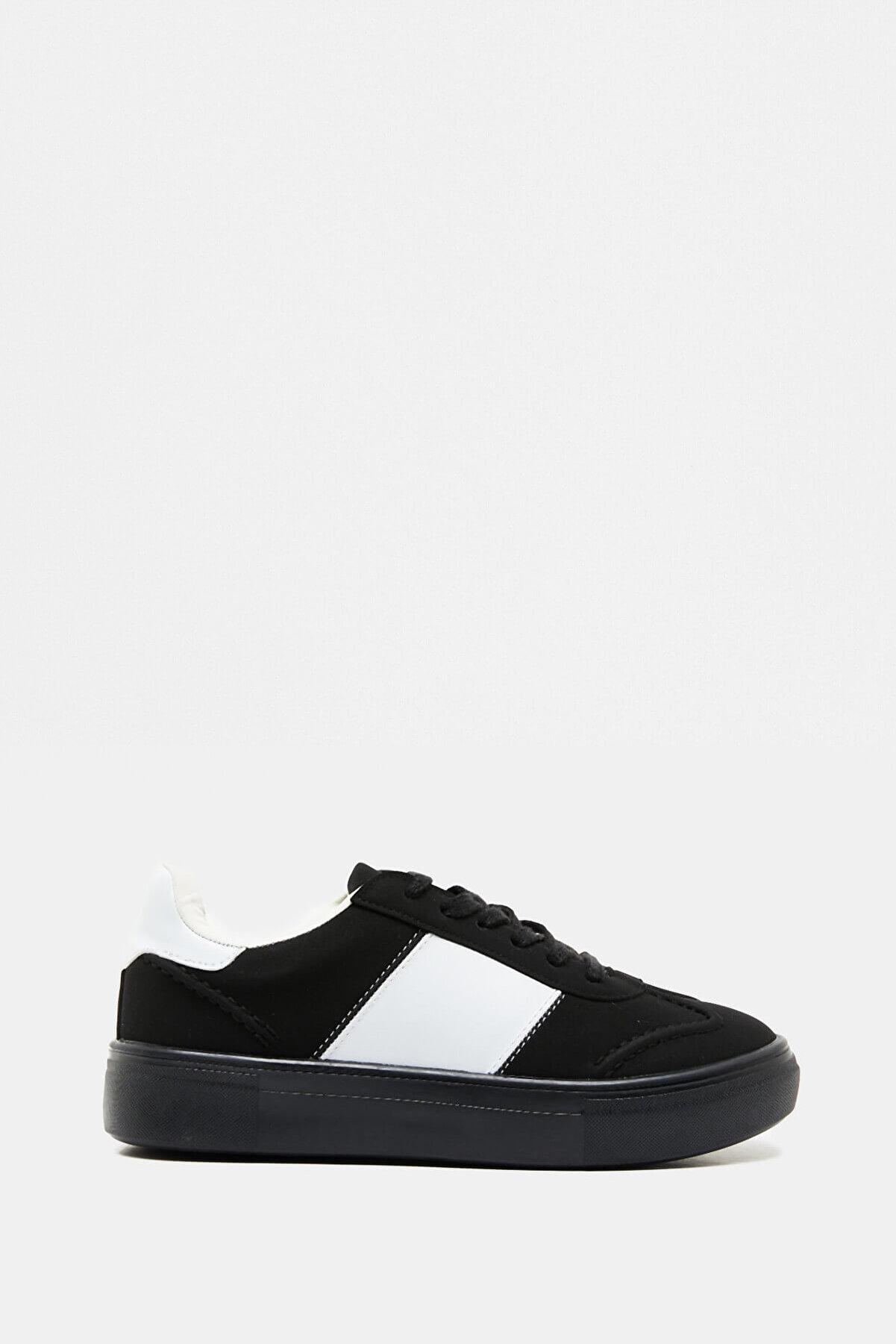 Koton Kadın  Siyah Bağcıklı Ayakkabı 9KAL23017AA