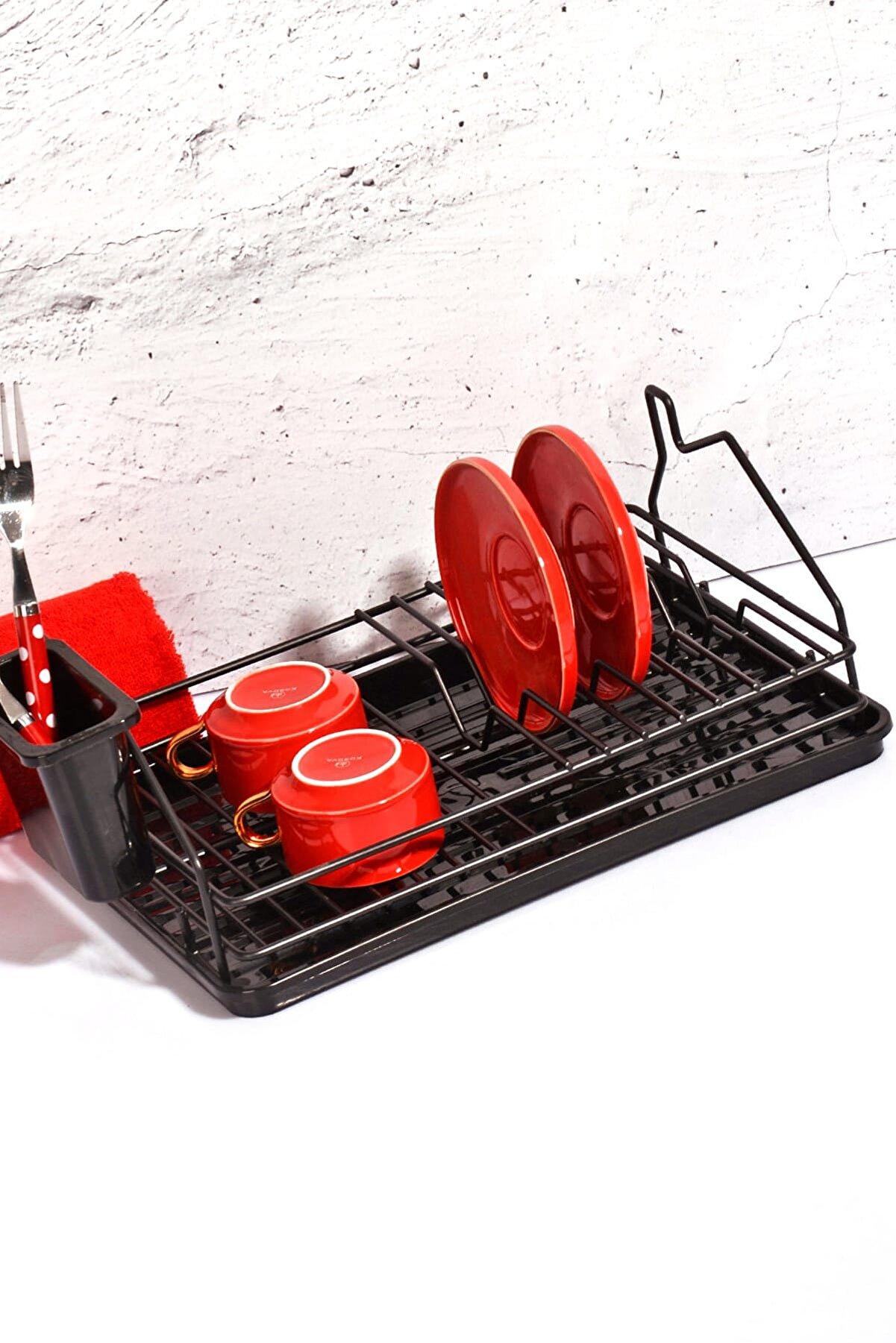 Kitchen Life Black Serisi Ev Şeklinde Mini Tabaklık