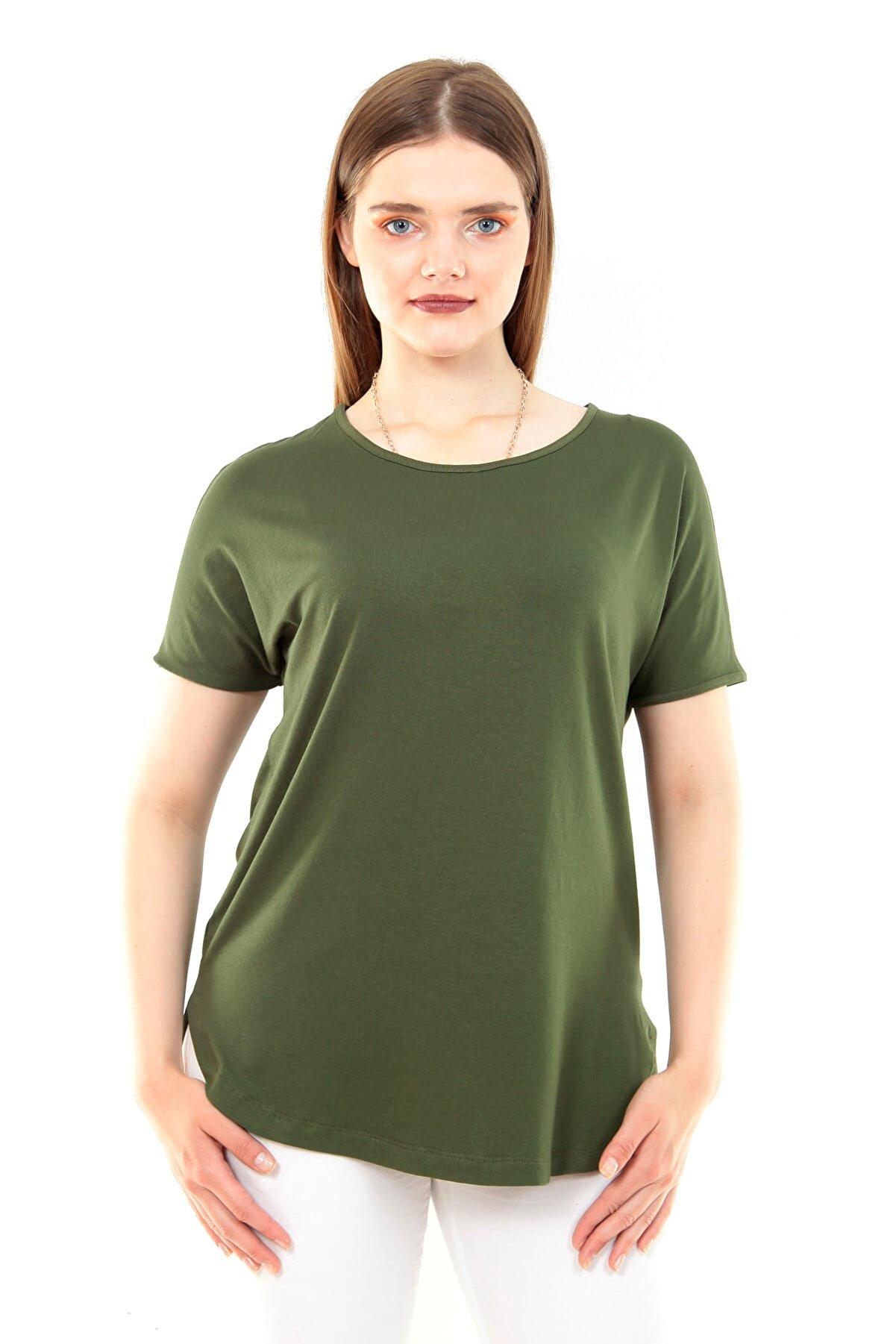 Moda Cazibe Kadın Haki Bluz M9206