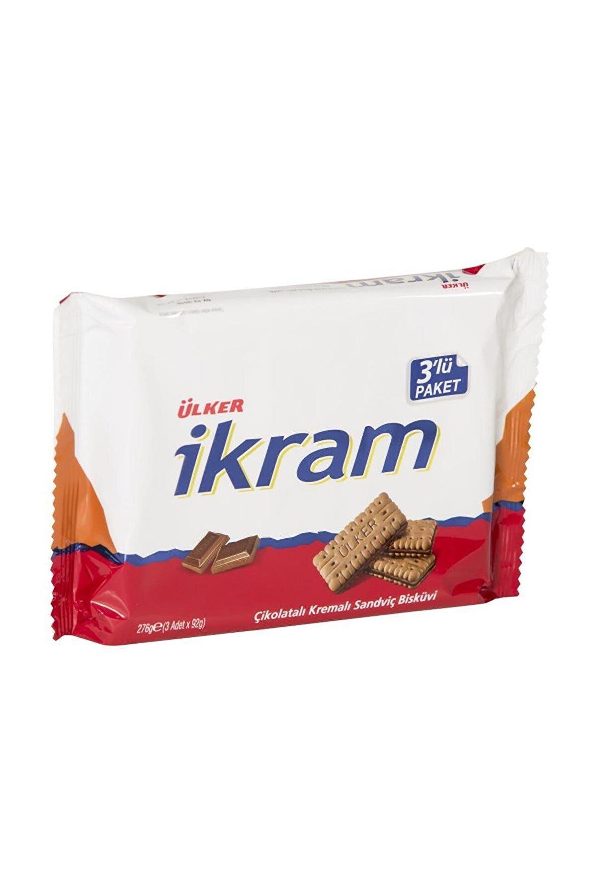 Ülker İkram Çikolatalı Bisküv 3x84 gr