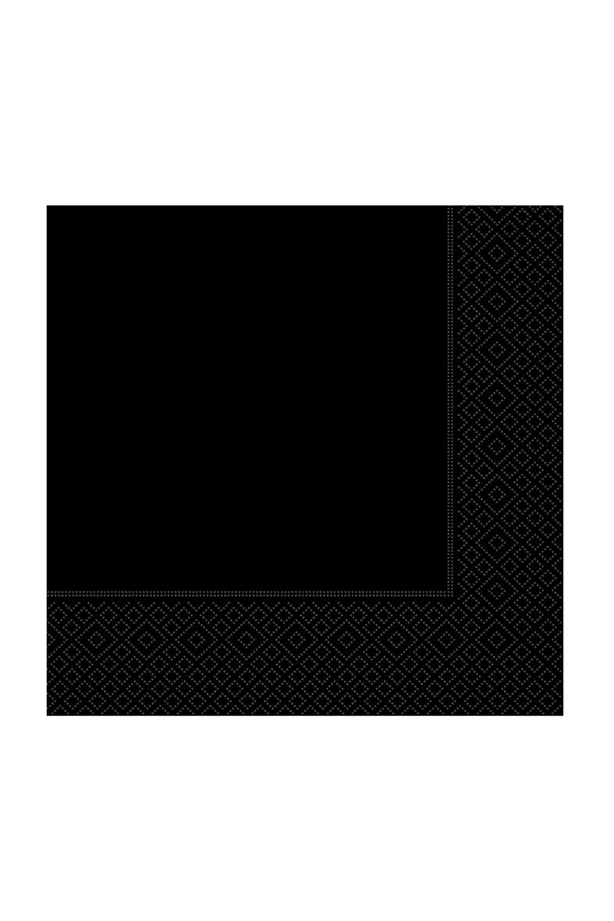 Kikajoy Siyah Kağıt Peçete 33x33 cm 20'li