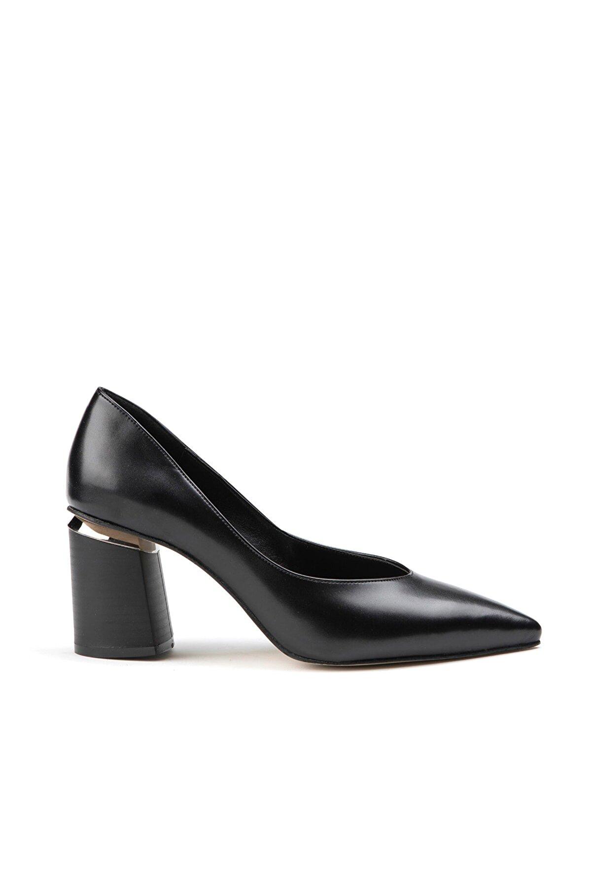 Jeep Ayakkabı Siyah Kadın Klasik Topuklu Ayakkabı 9K2KAJ0172
