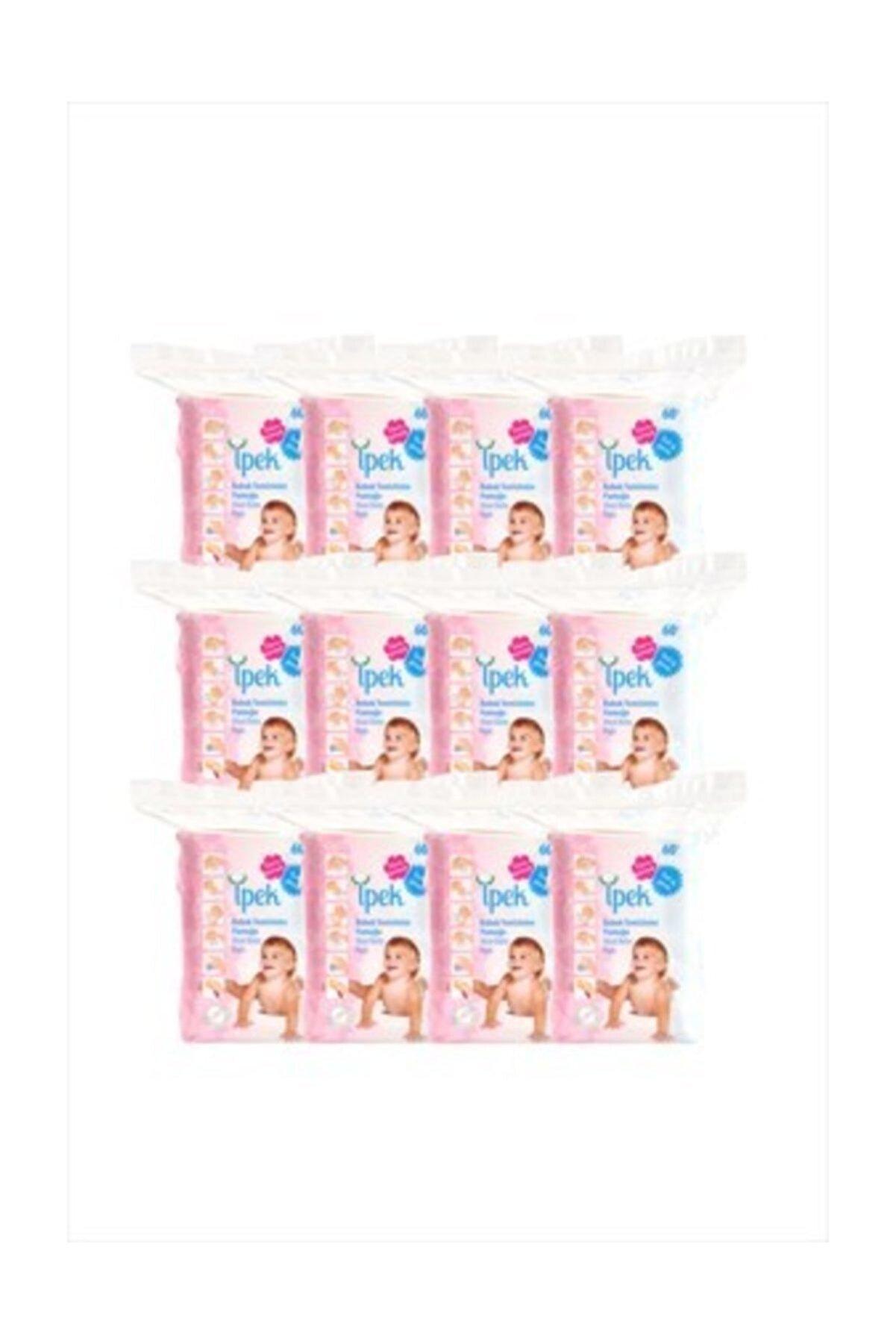 İpek Bebe Temizleme Pedi 60 Adet X 12 Paket