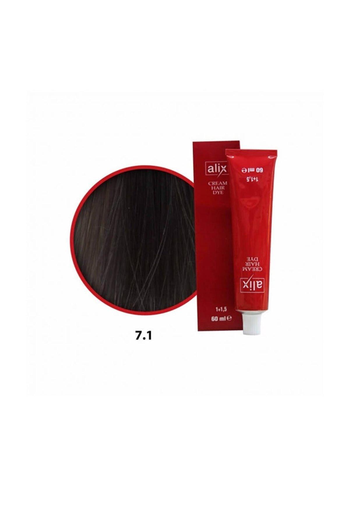Alix Saç Boyası 7.1 Kumral Küllü 60 Ml