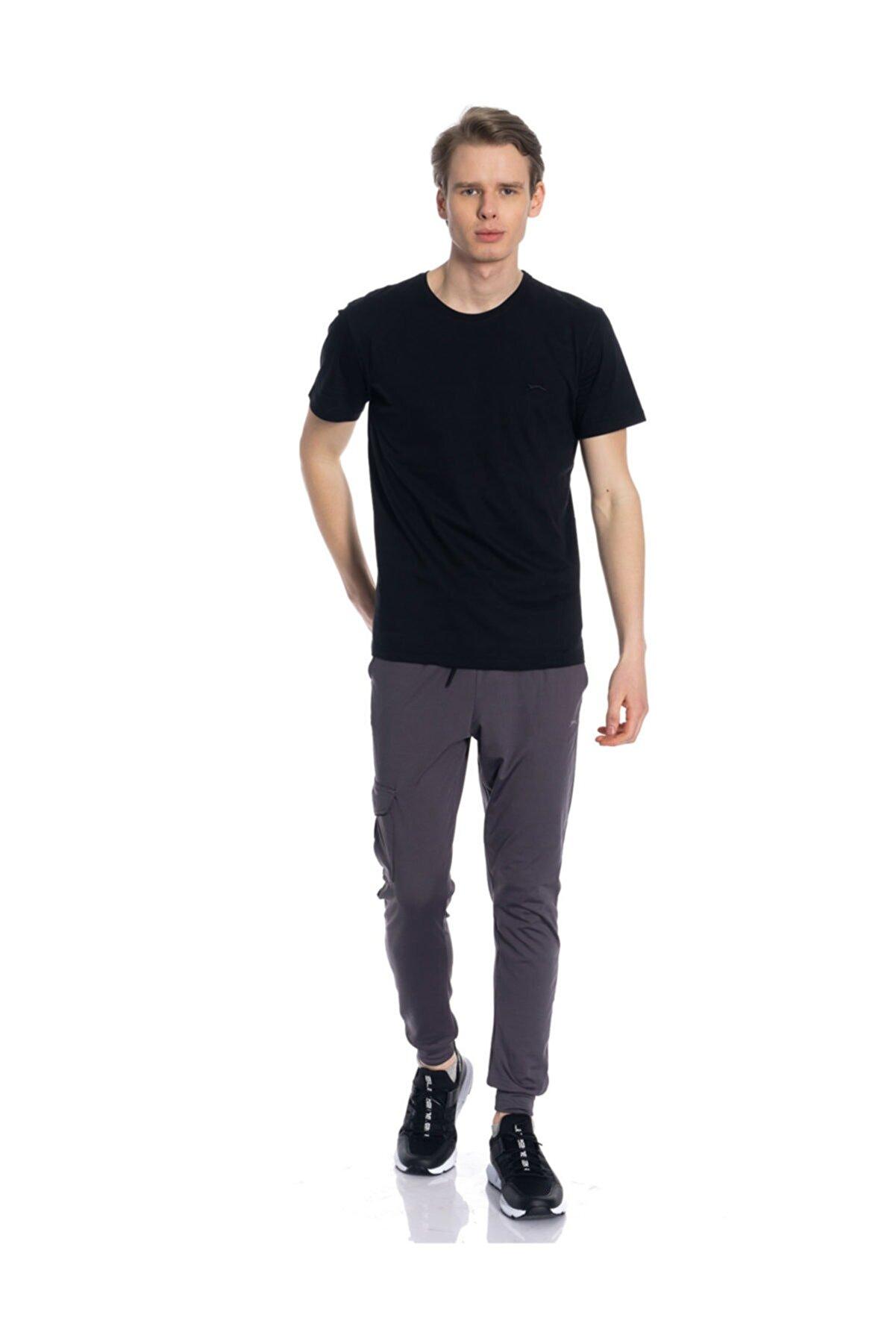 Slazenger Sander Erkek T-shirt Siyah St10te020