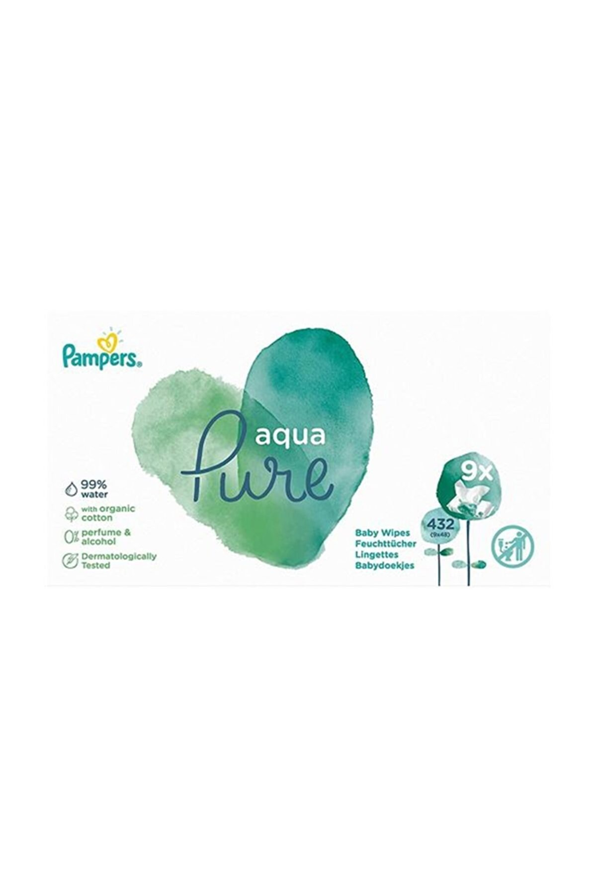 Prima Pampers Aqua Pure Islak Mendil 9x48li