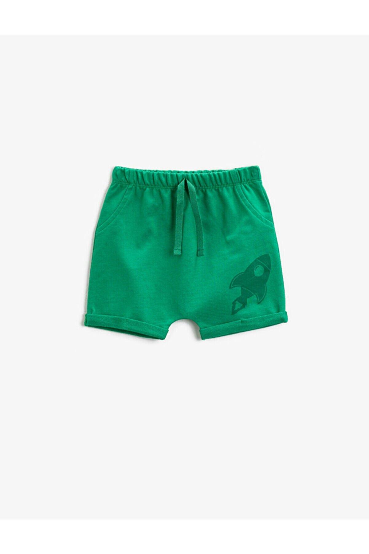 Koton Erkek Bebek Yeşil Şort & Bermuda