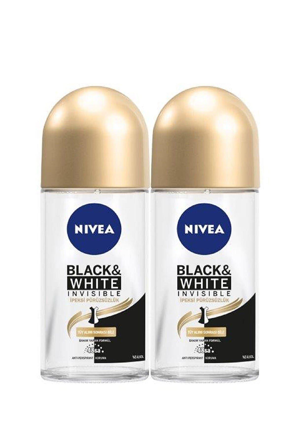 Nivea Black & White İpeksi Pürüzsüzlük Roll On 50 ml x 2