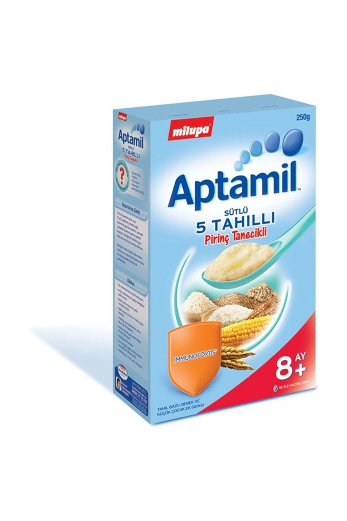 Aptamil Aptamil Sütlü 5 Tahıllı Pirinç Tanecikli +8 Ay 250 gr