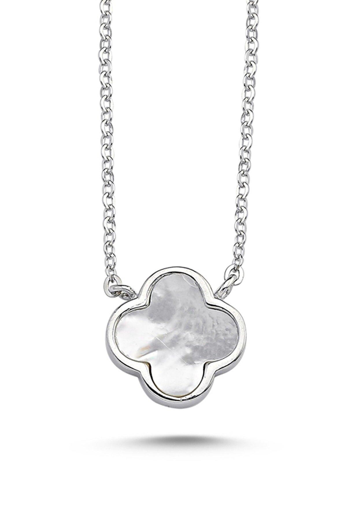 Kutaydan Kadın Yonca 925 Ayar Gümüş Kolye N86746