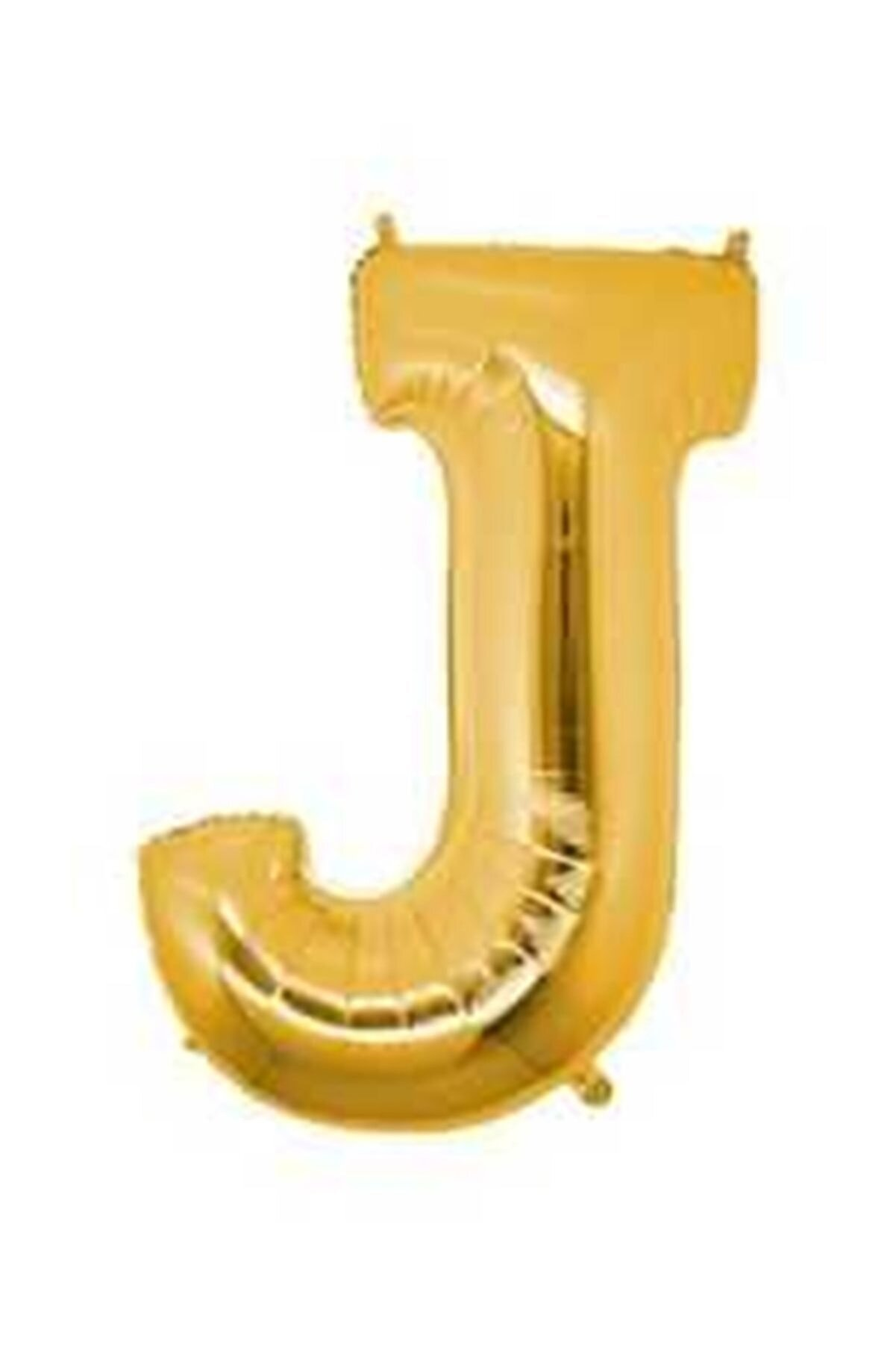 Partici J Harf Folyo Balon Altın 40cm