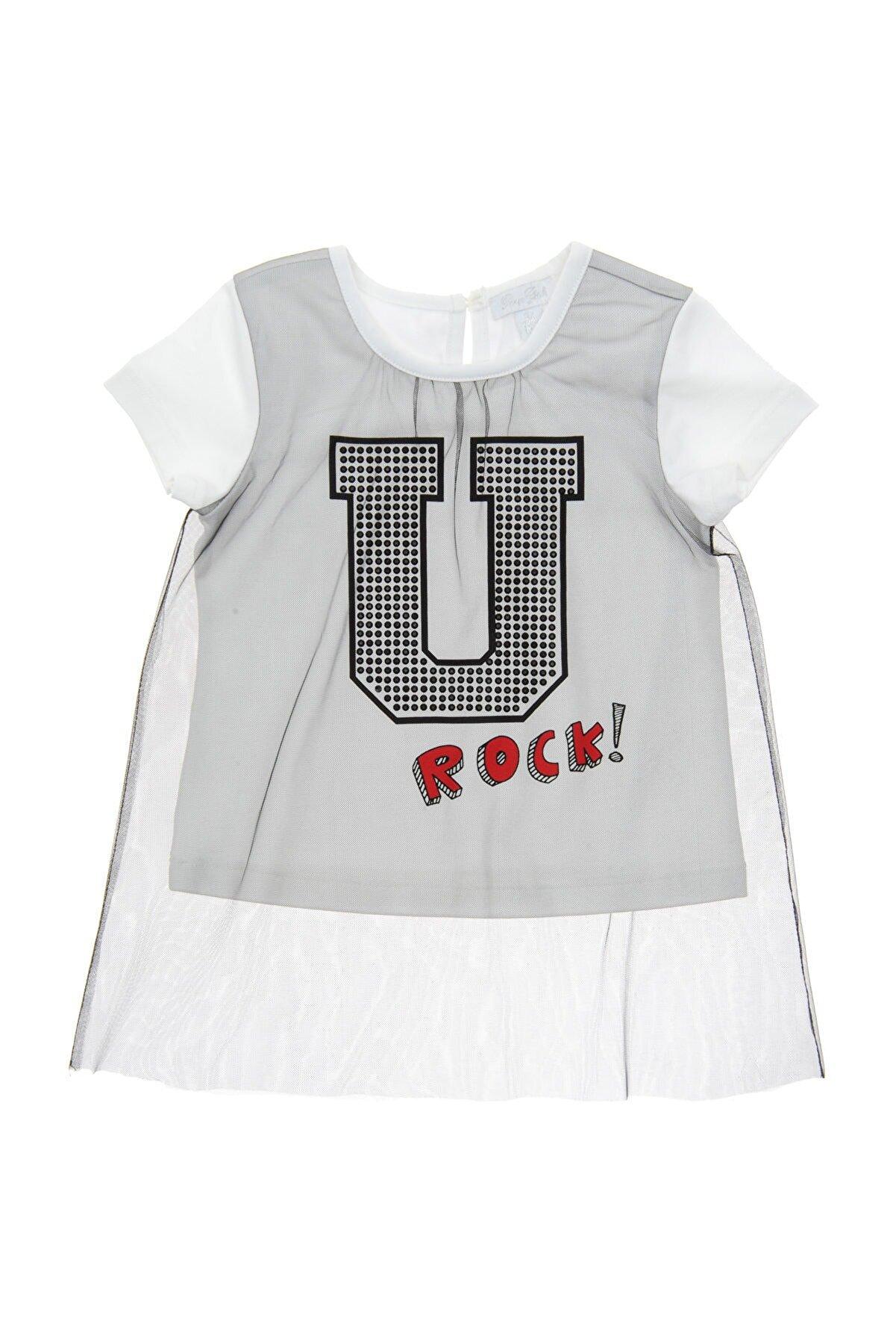 Panço Beyaz Kız Çocuk Tişört