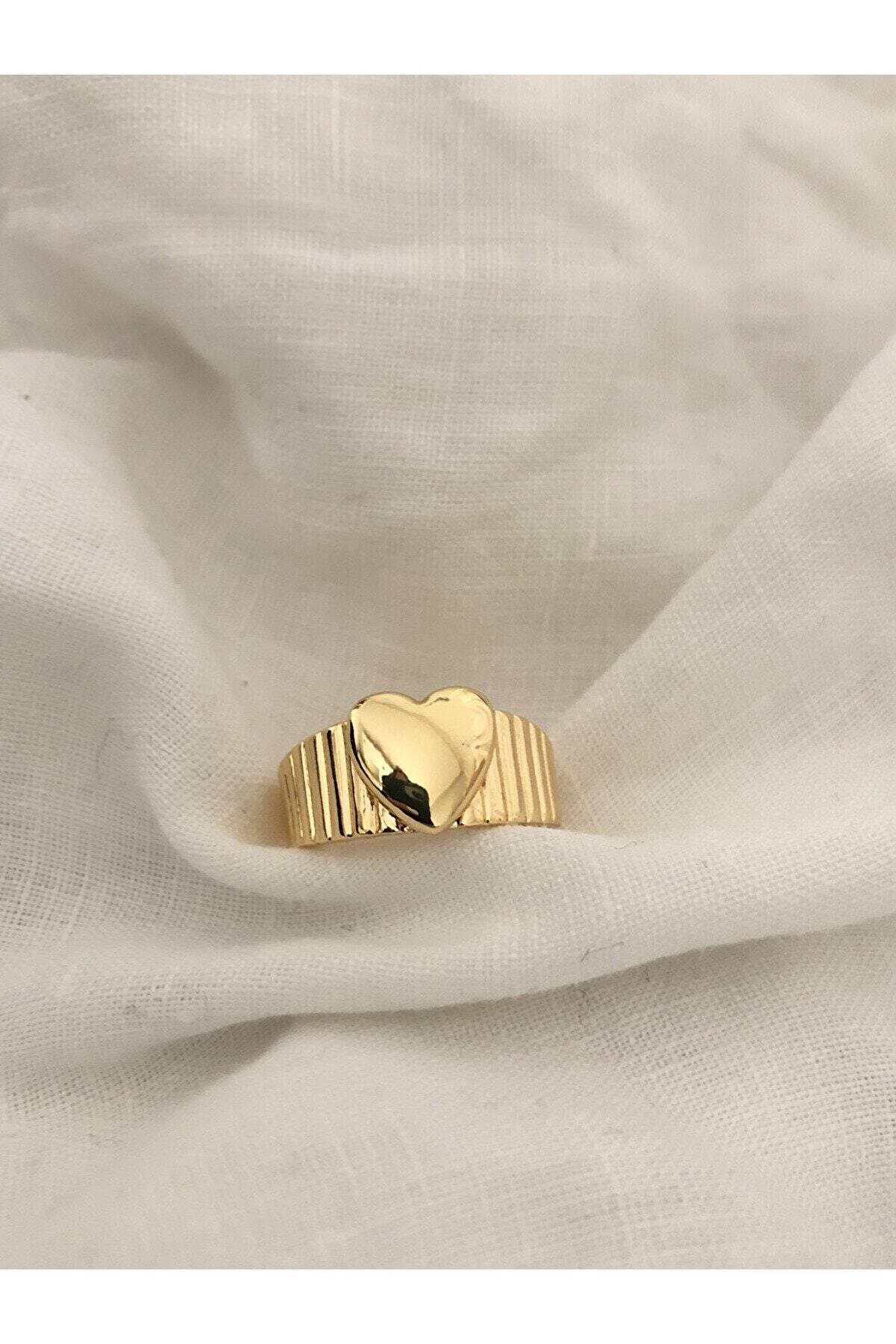 The Y Jewelry Vintage Kalp Yüzük -ayarlanabilir